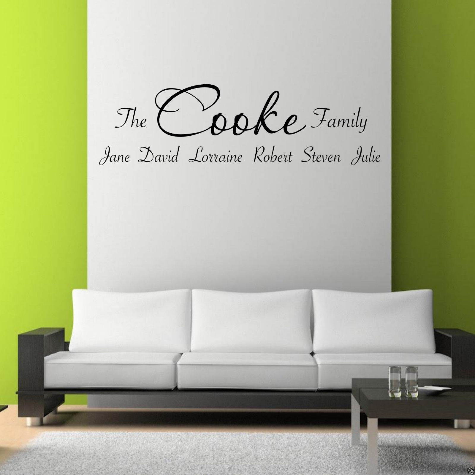 Personalised Family Wall Art Sticker Lounge Quote Decal Transfer Inside Family Wall Art (View 14 of 20)