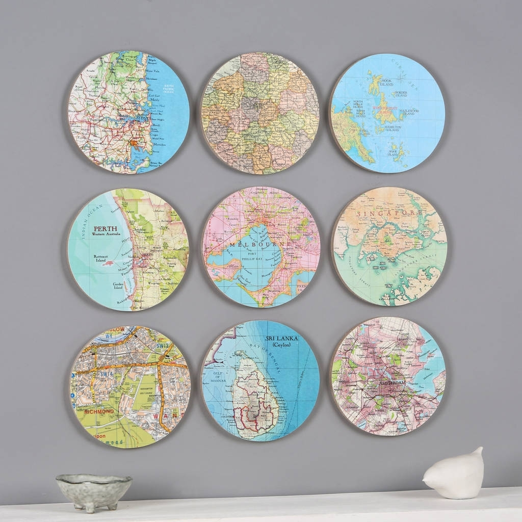 Personalised Map Location 3D Circle Wall Artbombus With Regard To Circle Wall Art (Photo 4 of 20)