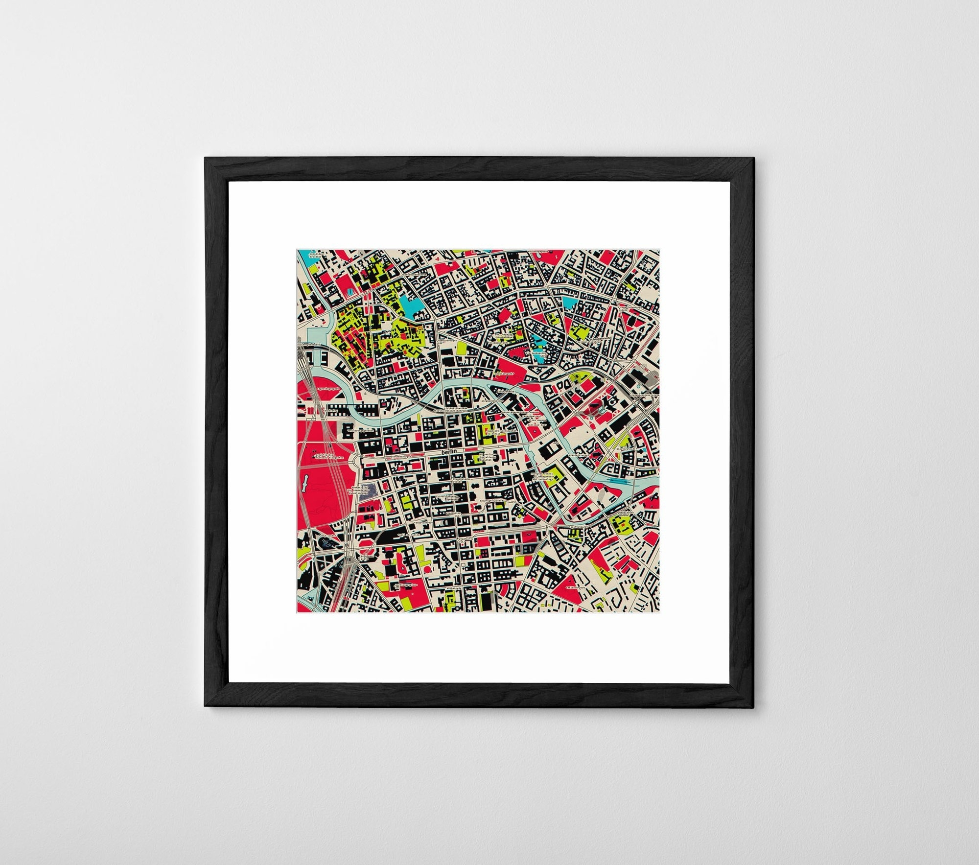 Personalised Map Print, Poster Or Canvas   Posterhaste Regarding Map Wall Art Prints (Photo 7 of 20)