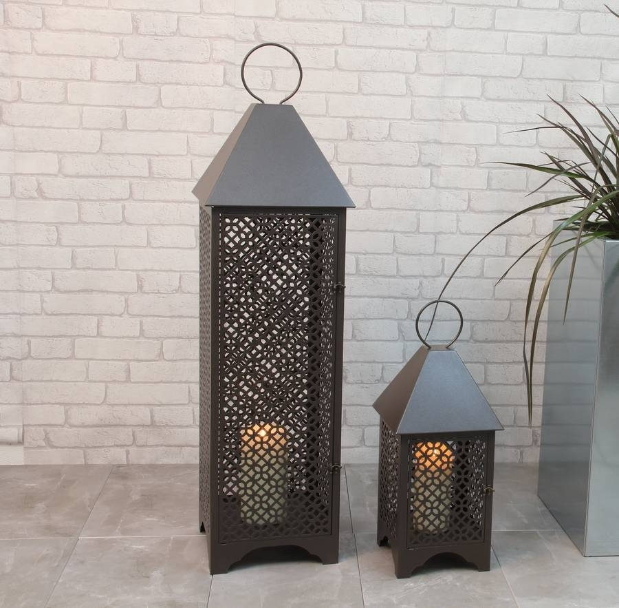 Personalised Patterned Metal Garden Lanternprecious Design For Moroccan Outdoor Lanterns (Photo 12 of 20)