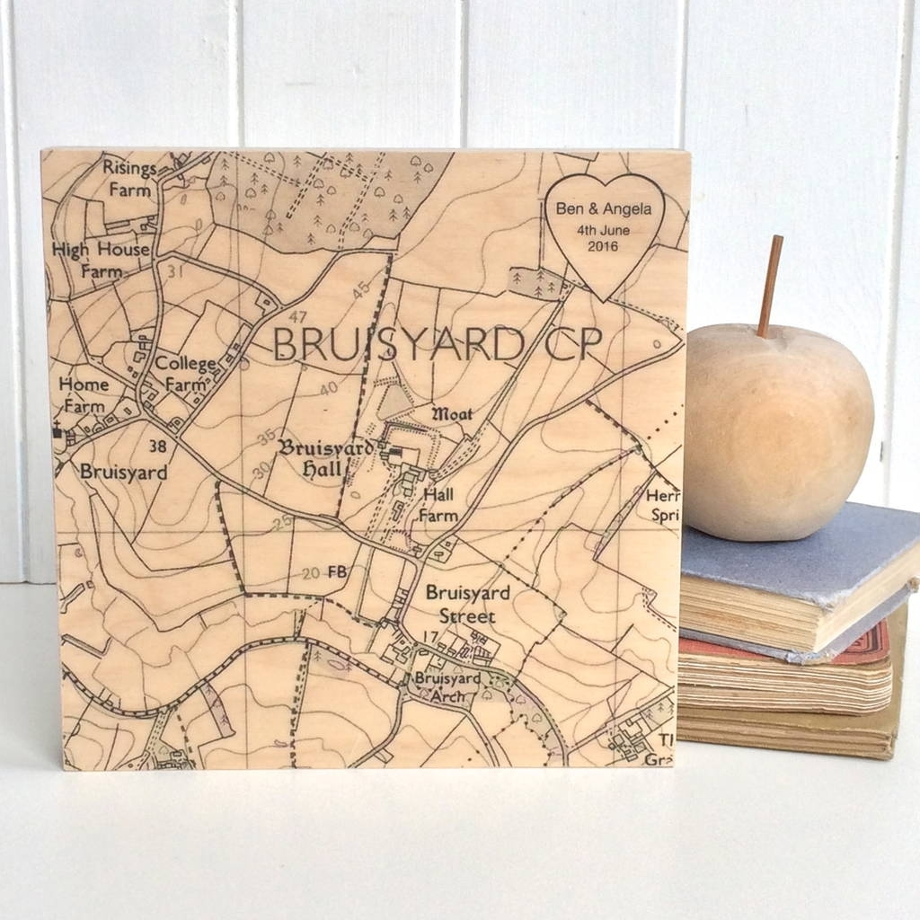 Personalised Street Map Print Gifts | Notonthehighstreet Pertaining To Portland Map Wall Art (View 18 of 20)
