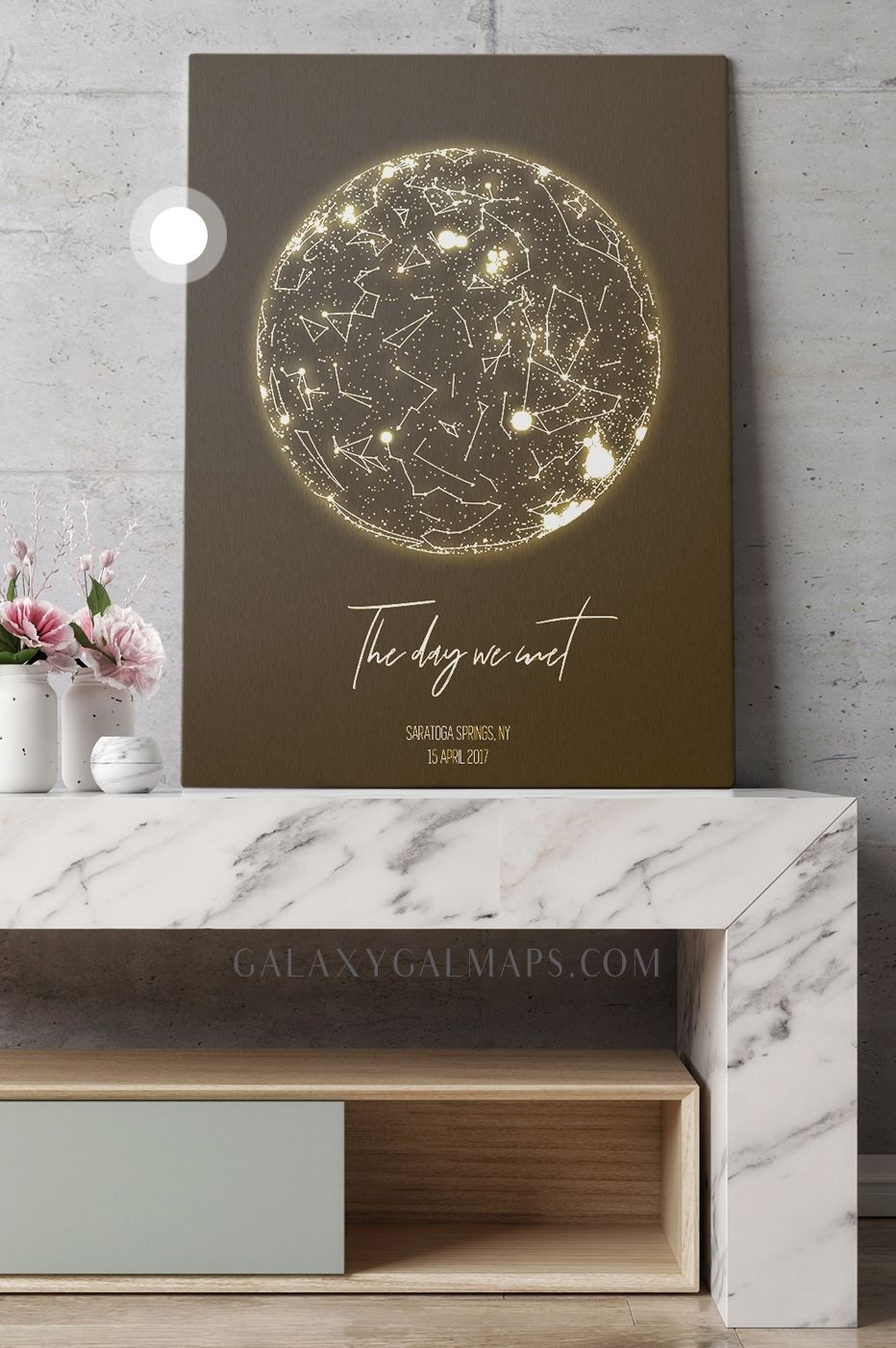 Personalized Star Map - The Night Sky Wall Art - Custom Framed Map inside Custom Wall Art (Image 17 of 20)