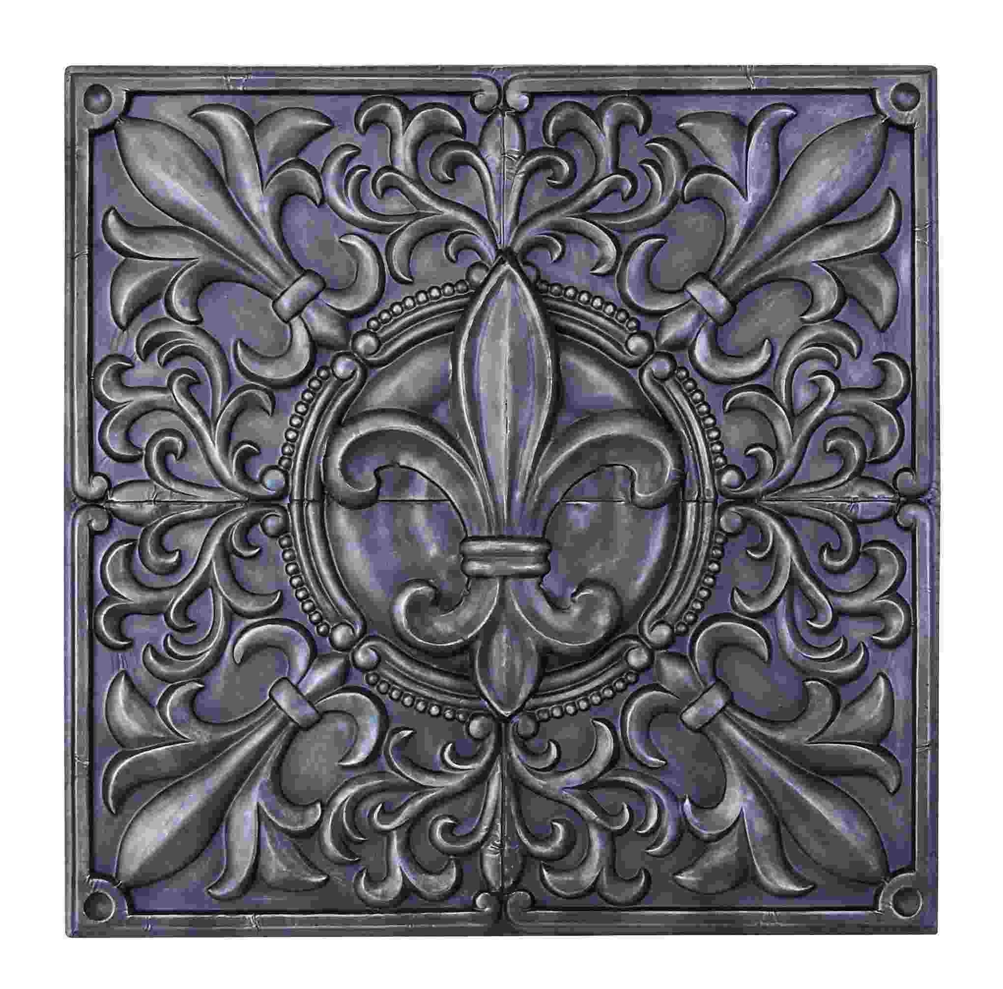Pewter Fleur De Lis Floral Metal Wall Art, Fleur De Lis Wall Art with regard to Fleur De Lis Wall Art (Image 14 of 20)