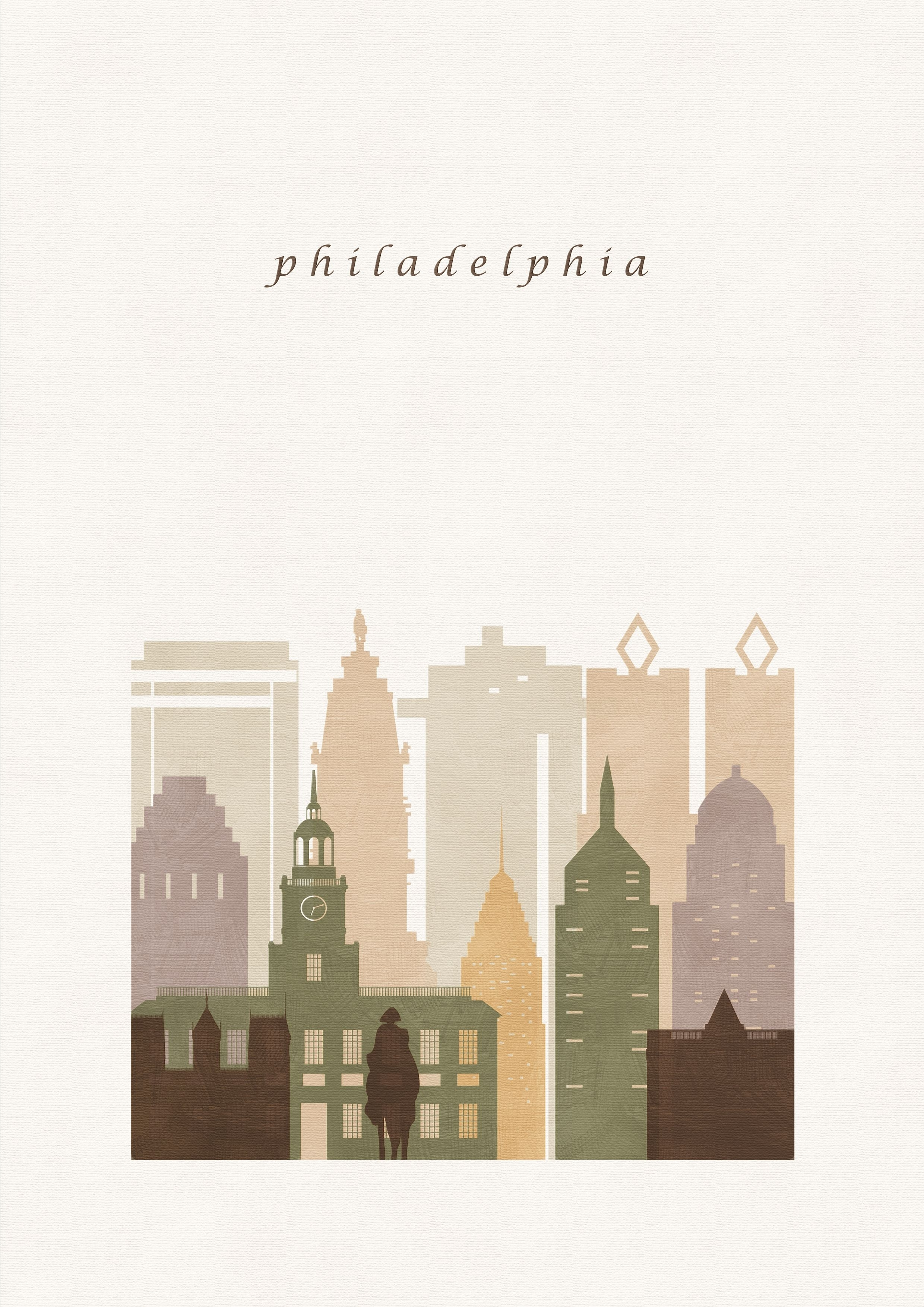 Philadelphia Travel Poster, Pa, Poster Print Download, Modern Art Intended For Philadelphia Map Wall Art (View 15 of 20)