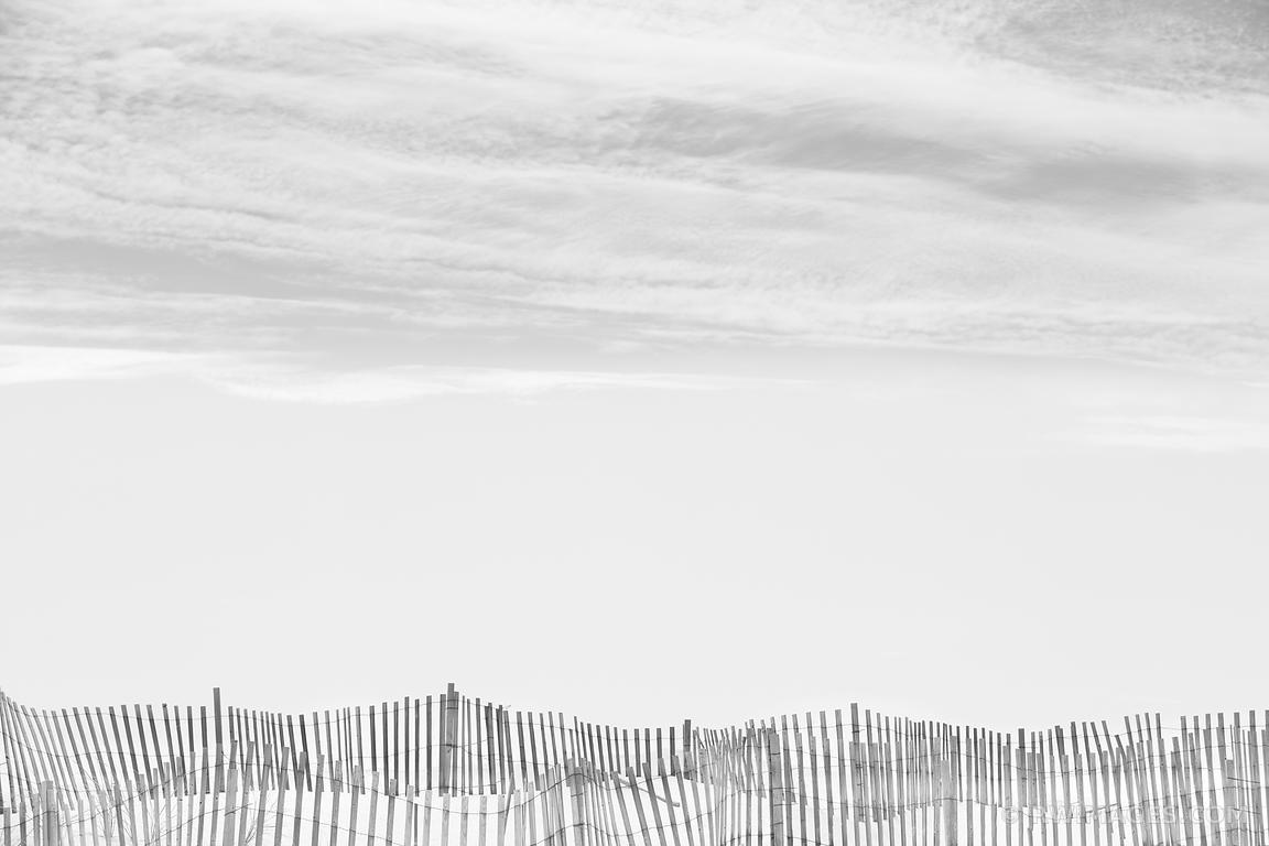 Photo Print Of Southampton Long Island Beach Fence Black And White Throughout Long Island Wall Art (Photo 10 of 20)