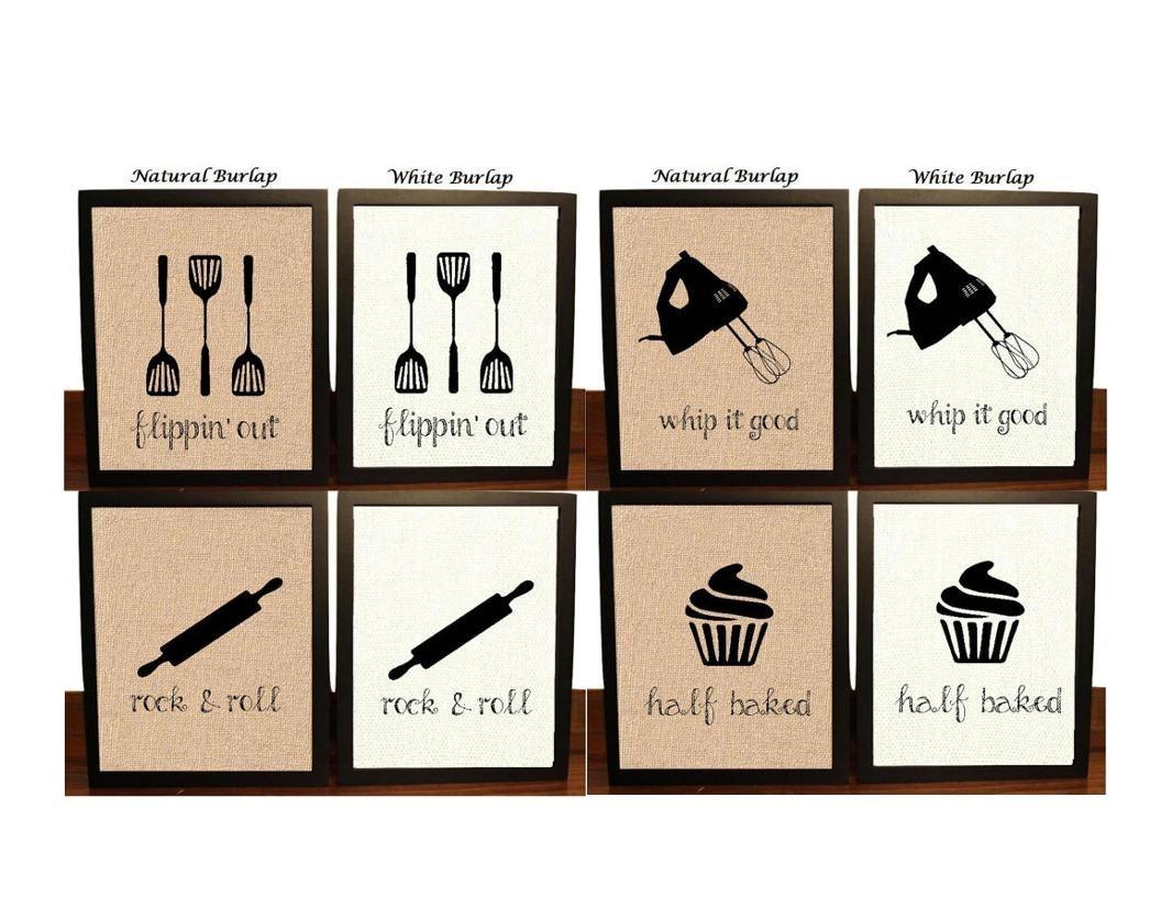 Pick 4 Kitchen Wall Decor Kitchen Sign Kitchen Art Kitchen | Etsy Within Kitchen Wall Art (View 11 of 20)