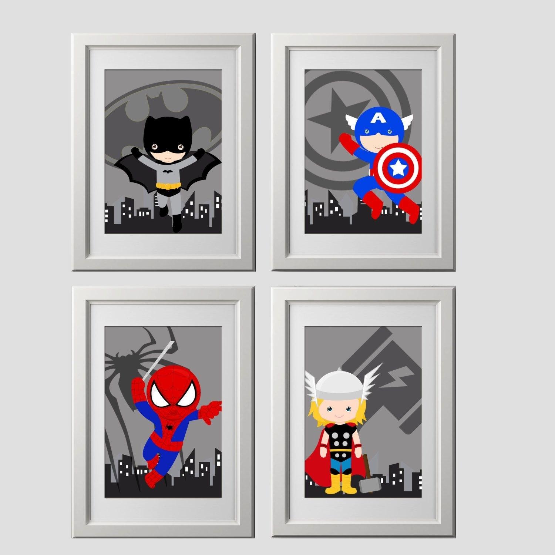Pick 4, Superhero Wall Art Prints, High Quality Prints, Shipped To For Superhero Wall Art (View 11 of 20)