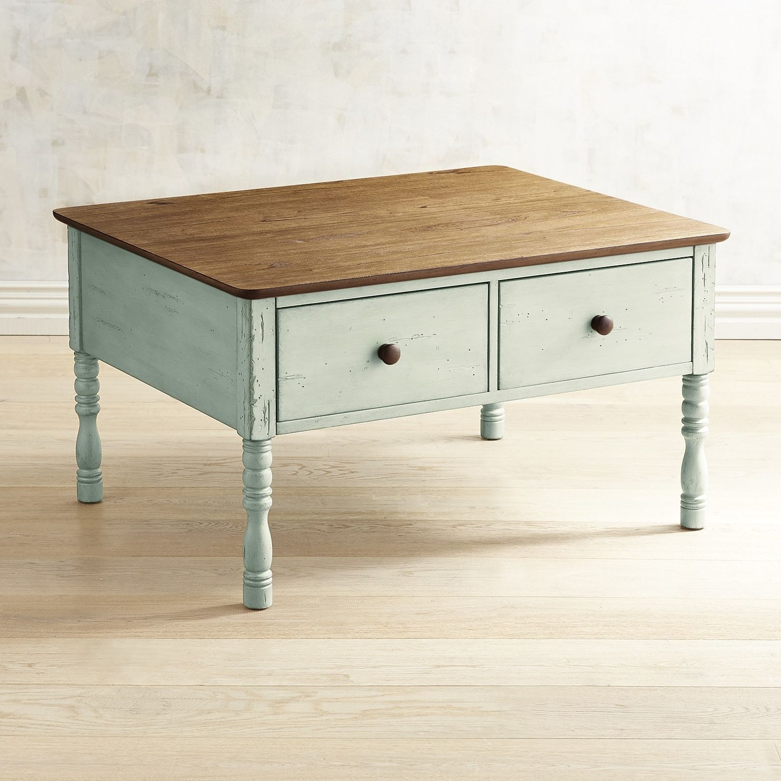 Pier 1 Imports Haven Soft Green Coffee Table | Green Coffee Tables pertaining to Haven Coffee Tables (Image 28 of 30)