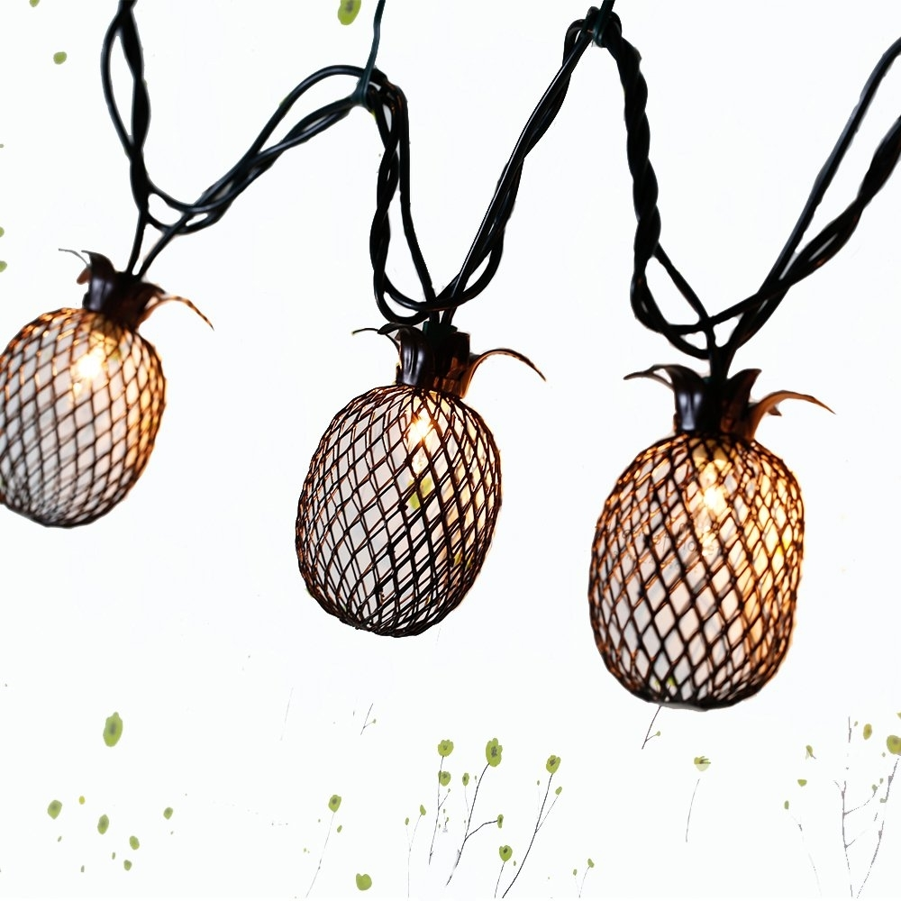 Pineapple Outdoor Lights: Amazon with regard to Outdoor Pineapple Lanterns (Image 15 of 20)