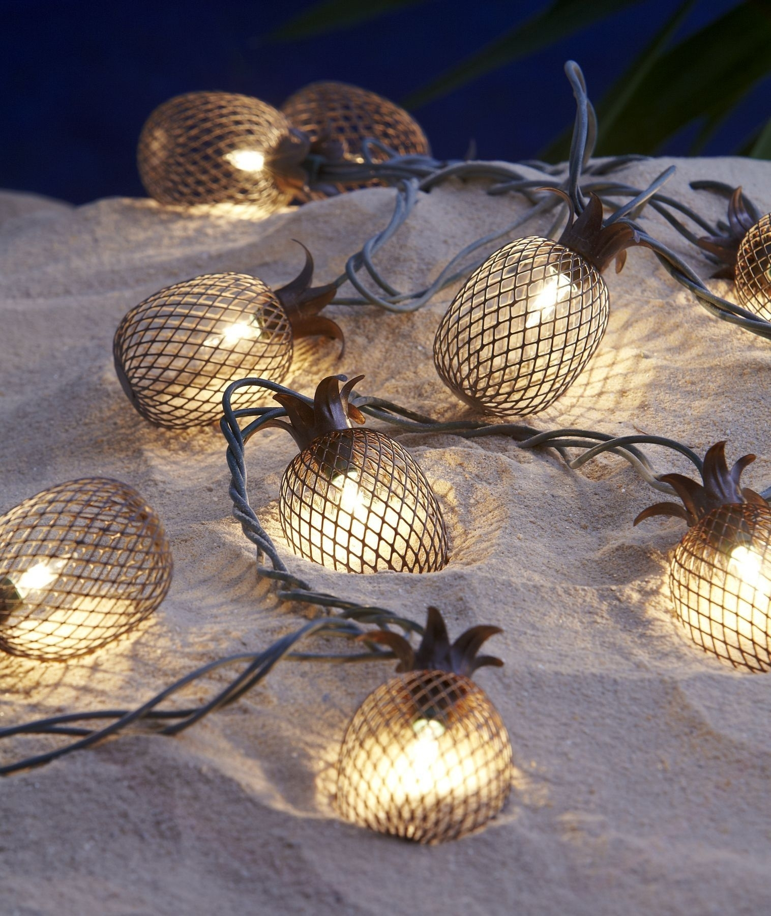 Pineapple Outdoor String Lights | Http://afshowcaseprop with regard to Outdoor Pineapple Lanterns (Image 16 of 20)