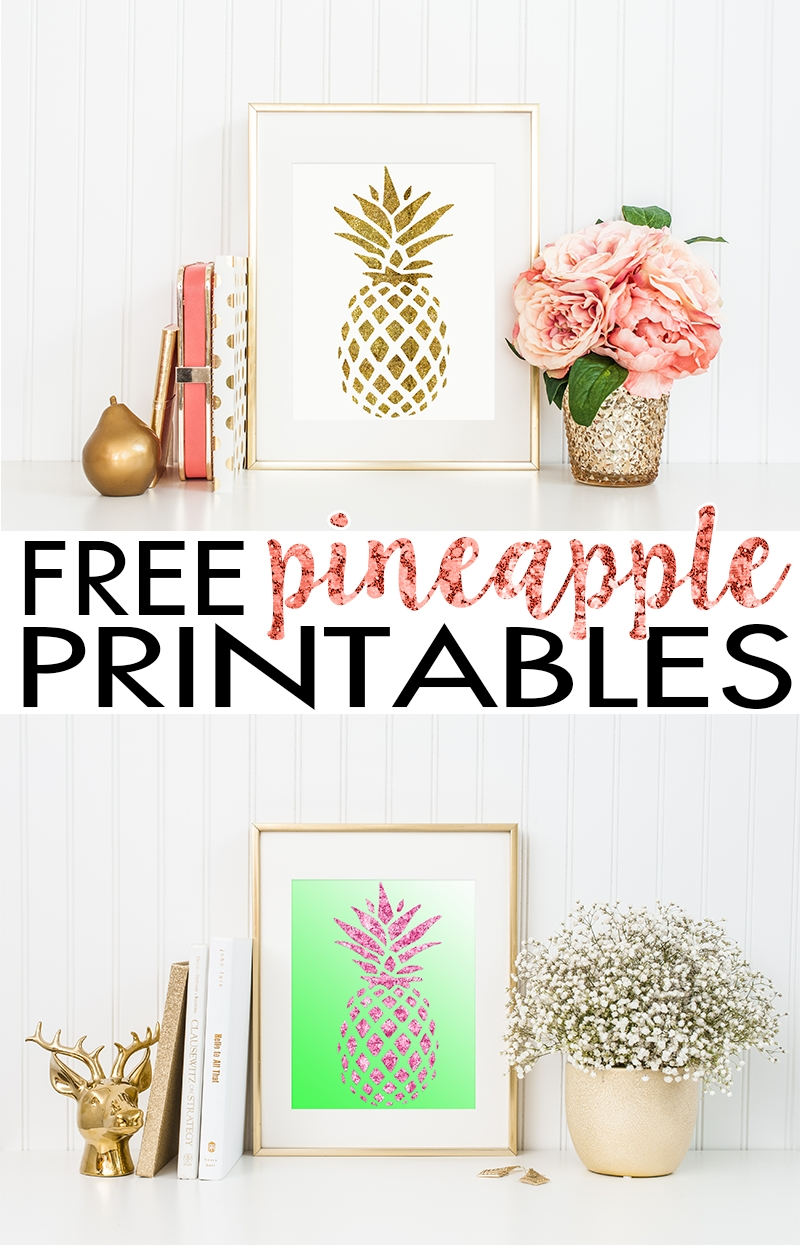 Pineapple Wall Art | Free Printable - Hairspray And Highheels regarding Free Printable Wall Art (Image 17 of 20)