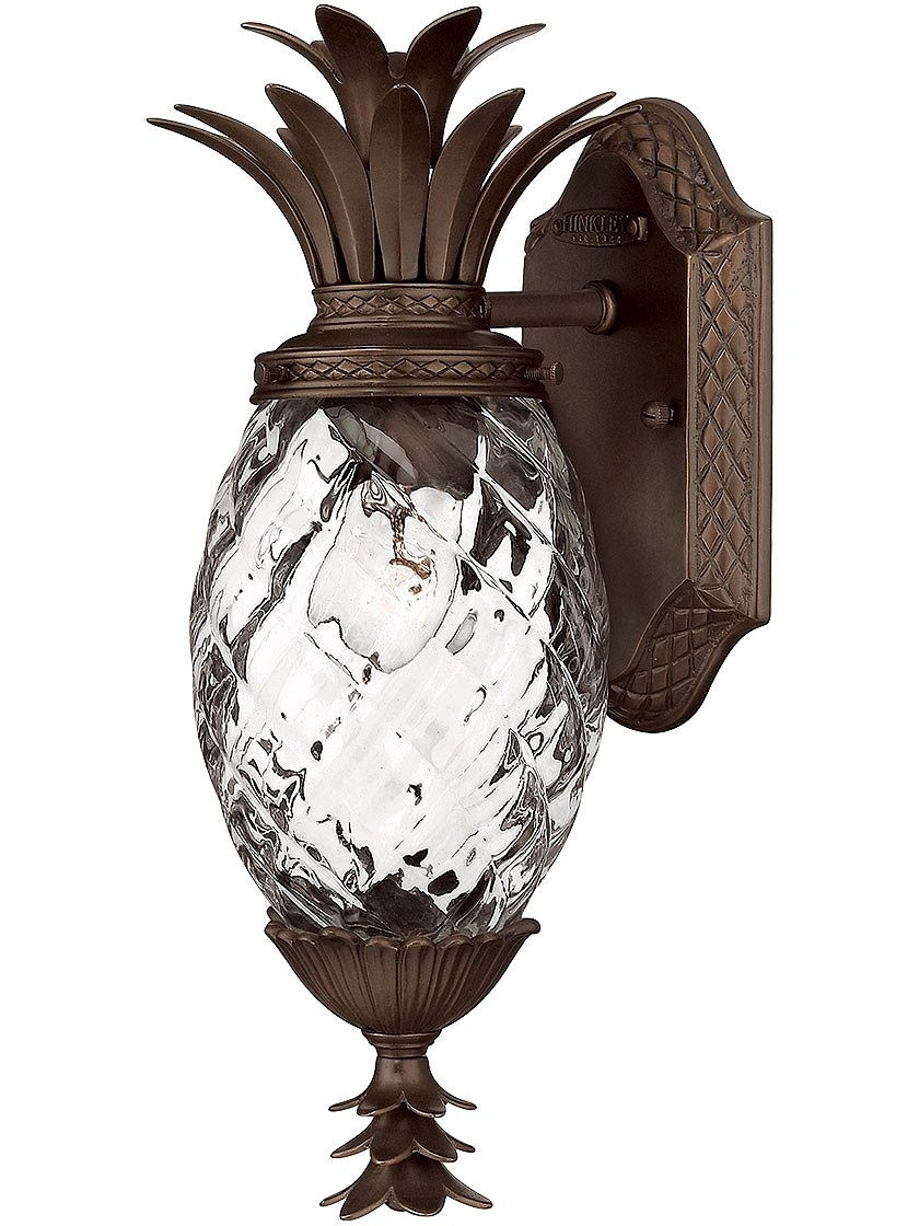 Plantation Pineapple Sconce In Copper Bronze | Favorite Recipes inside Outdoor Pineapple Lanterns (Image 17 of 20)