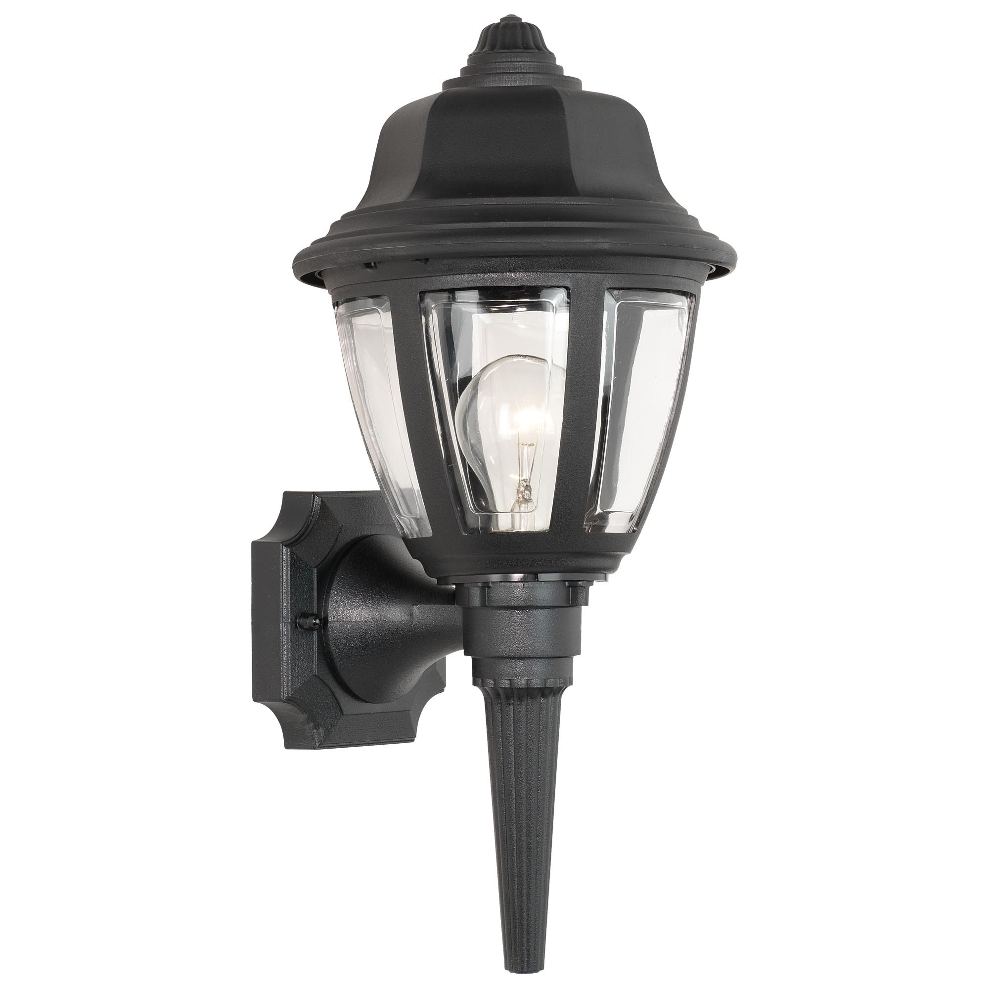 Plastic Lanterns Outdoor Lights Light Splendid Black Wall Lantern with regard to Outdoor Plastic Lanterns (Image 15 of 20)