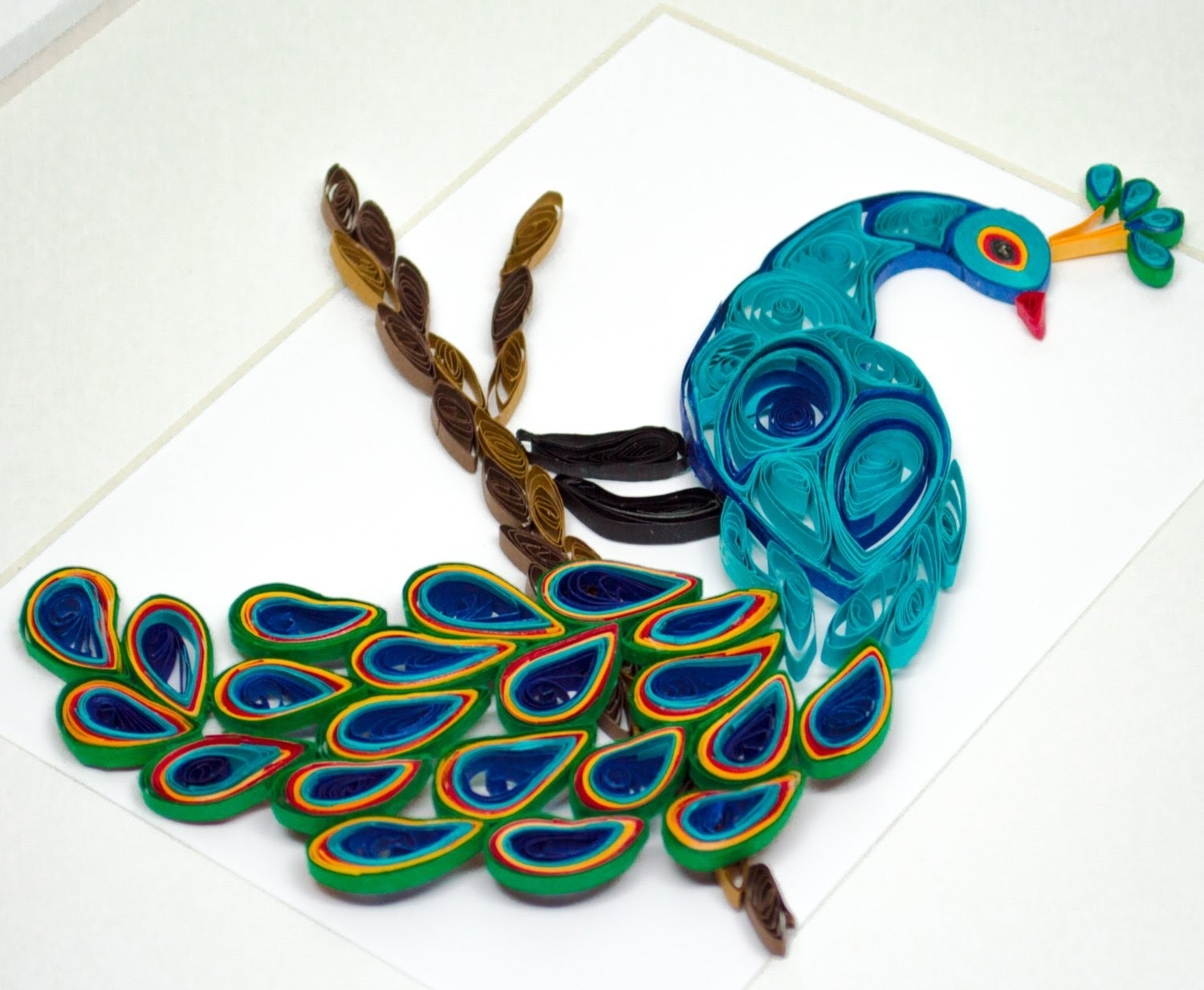 Plastic Peacock Wall Hanging (View 16 of 20)