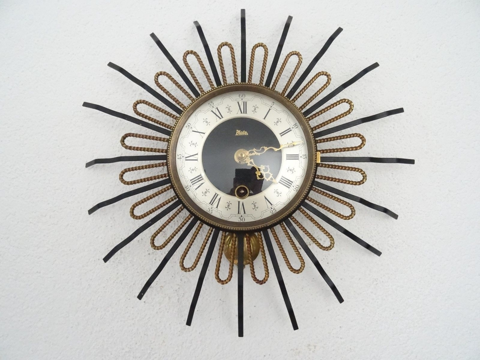 Plato Star Wall Clock Vintage Dutch Art Deco Design Retro (Junghans with Art Deco Wall Clock (Image 15 of 20)