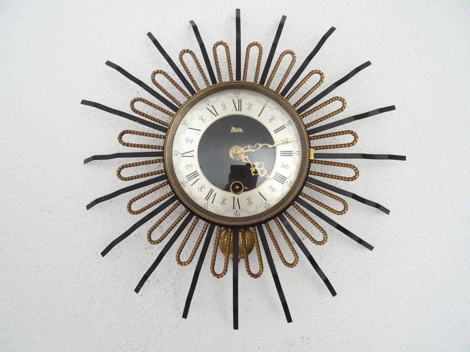 Plato Star Wall Clock Vintage Dutch Art Deco Design Retro (Junghans With Art Deco Wall Clock (Photo 4 of 20)