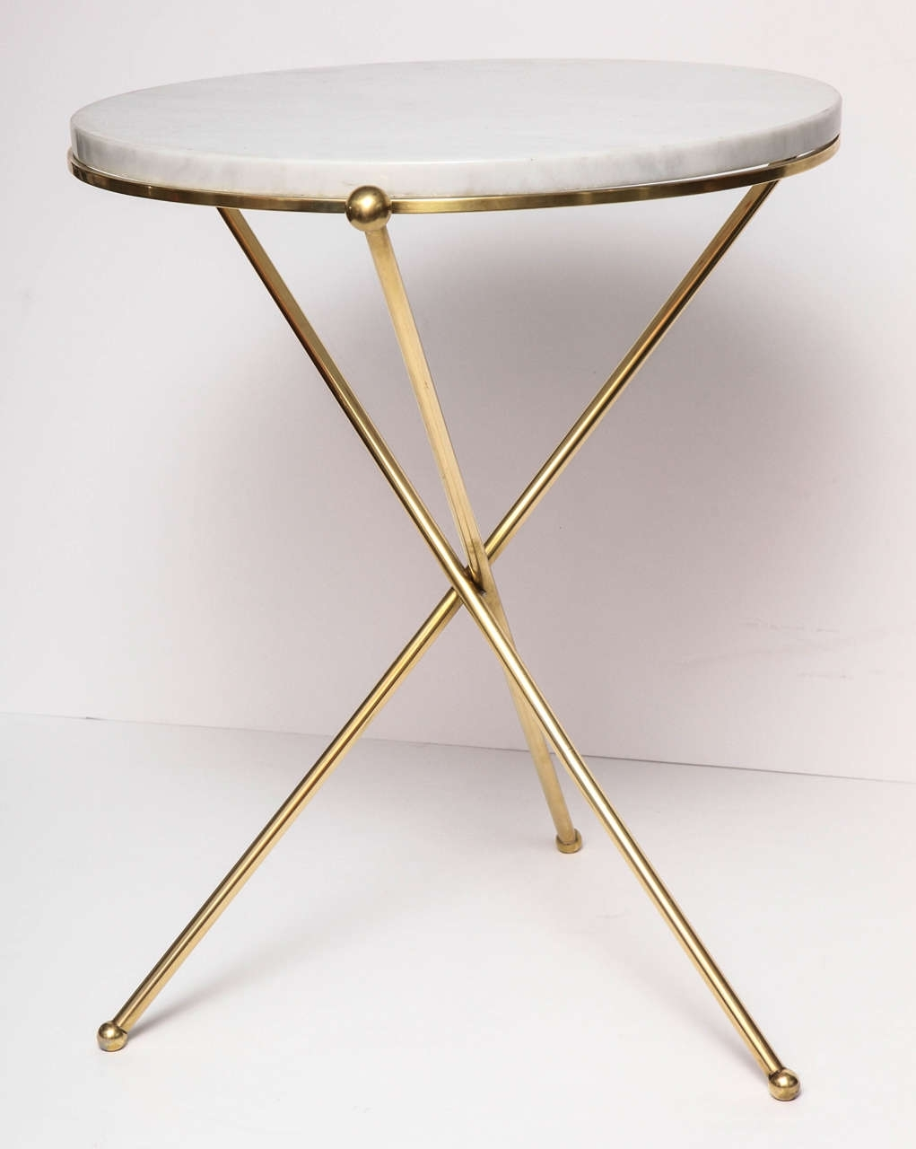 Pleasant Idea Marble Brass Side Table Tripod And At 1Stdibs Antique Pertaining To Smart Round Marble Brass Coffee Tables (View 24 of 30)