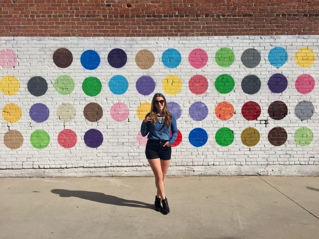 Polka Dots Wall At 608 Mateo Street, Los Angeles, Ca 90021 • Matty Regarding Los Angeles Wall Art (View 18 of 20)