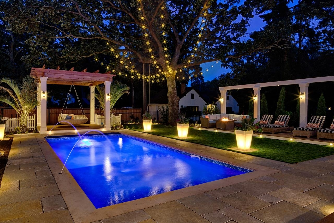 Pool Party Lights | Hometown Evolution Inside Outdoor Lanterns For Poolside (Photo 5 of 20)