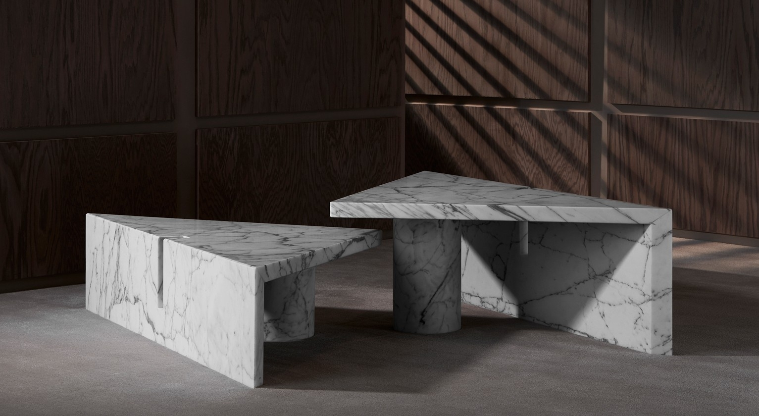 Portal Coffee Table | Apparatus regarding Jackson Marble Side Tables (Image 18 of 30)