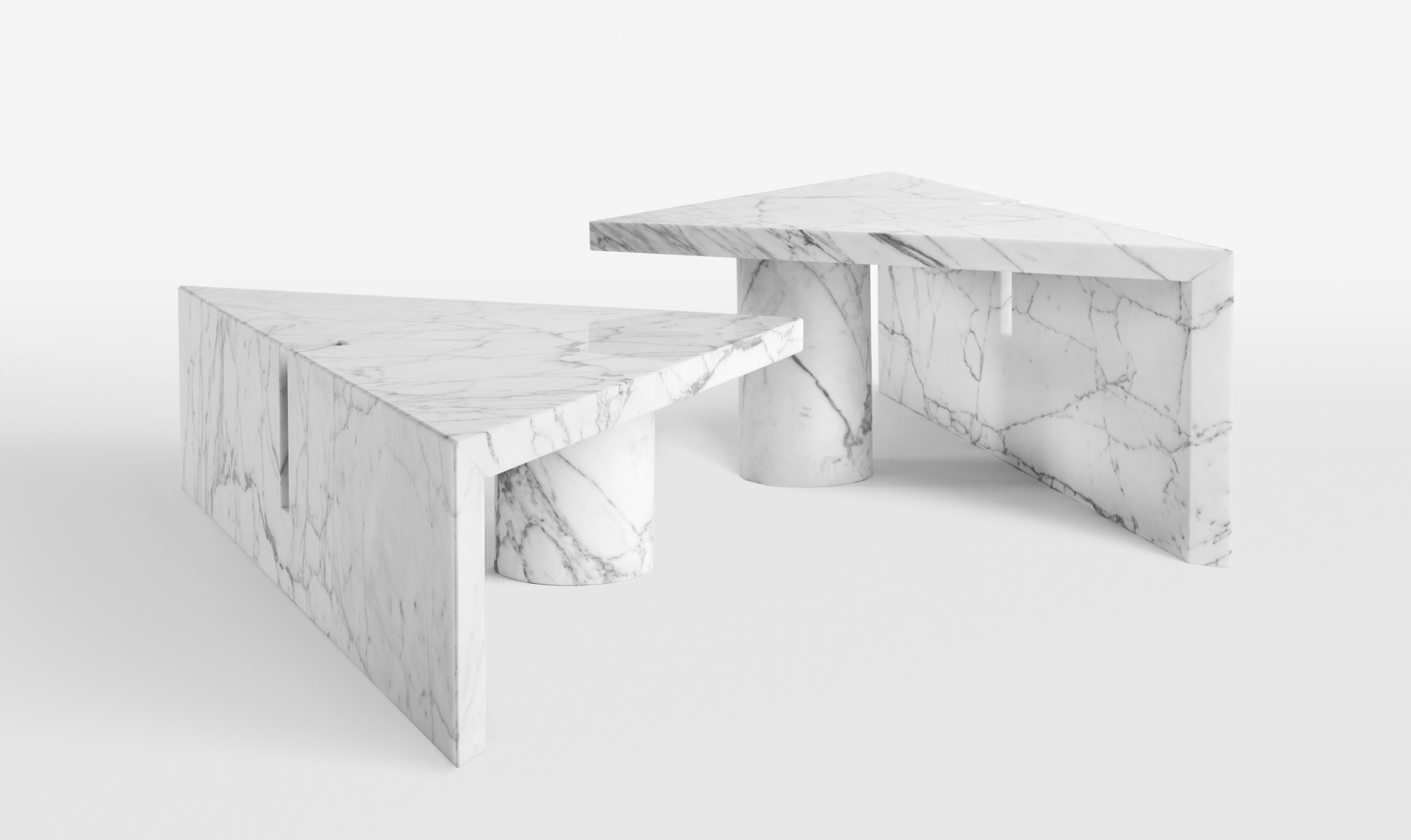 Portal Coffee Table | Apparatus with Jackson Marble Side Tables (Image 19 of 30)