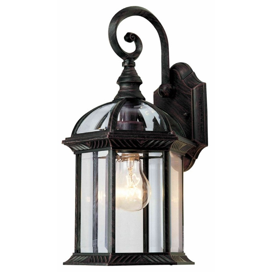 Portfolio 15 1/2 In Outdoor Wall Mounted Light | Lowe's Canada Pertaining To Outdoor Lanterns At Lowes (Photo 3 of 20)
