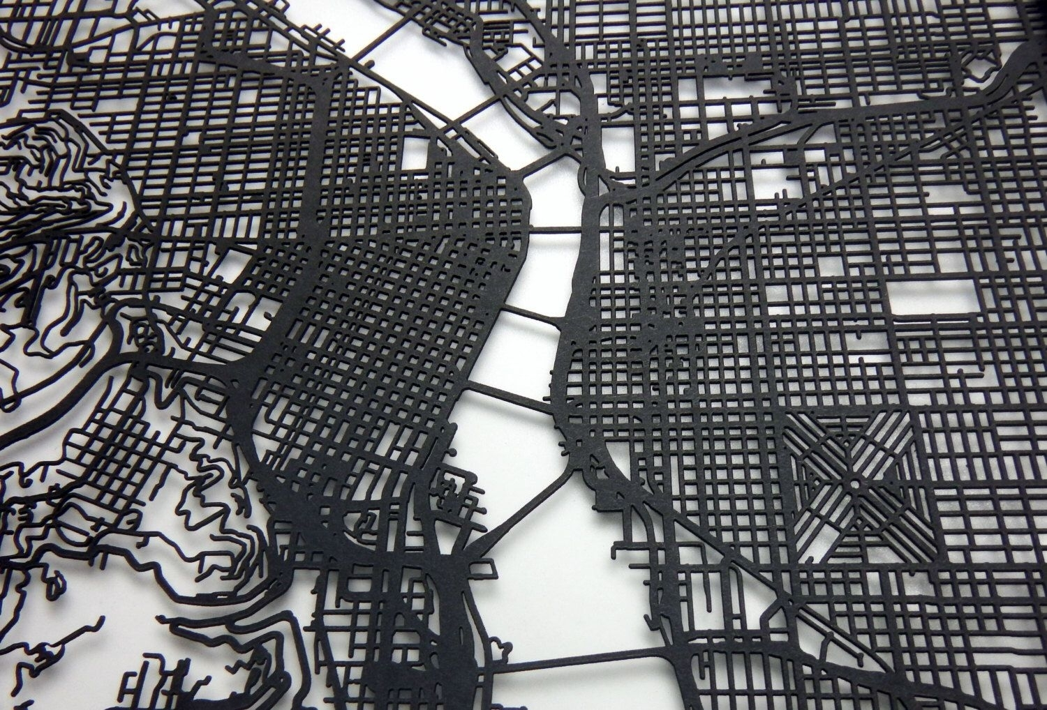 Portland Map, Laser Cut Map, Portland Oregon, Map Of Portland Pertaining To Portland Map Wall Art (View 11 of 20)