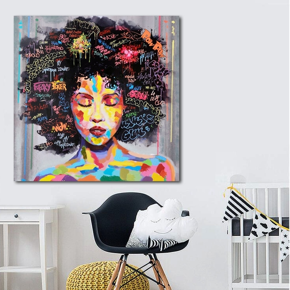 Portrait Wall Art Abstract Nude American Women African Wall Art for African Wall Art (Image 15 of 20)