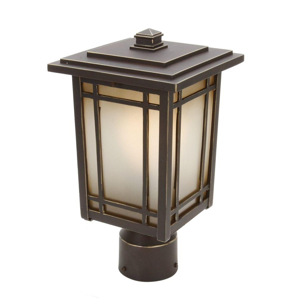 Post Lighting - Outdoor Lighting - The Home Depot regarding Outdoor Pillar Lanterns (Image 14 of 20)