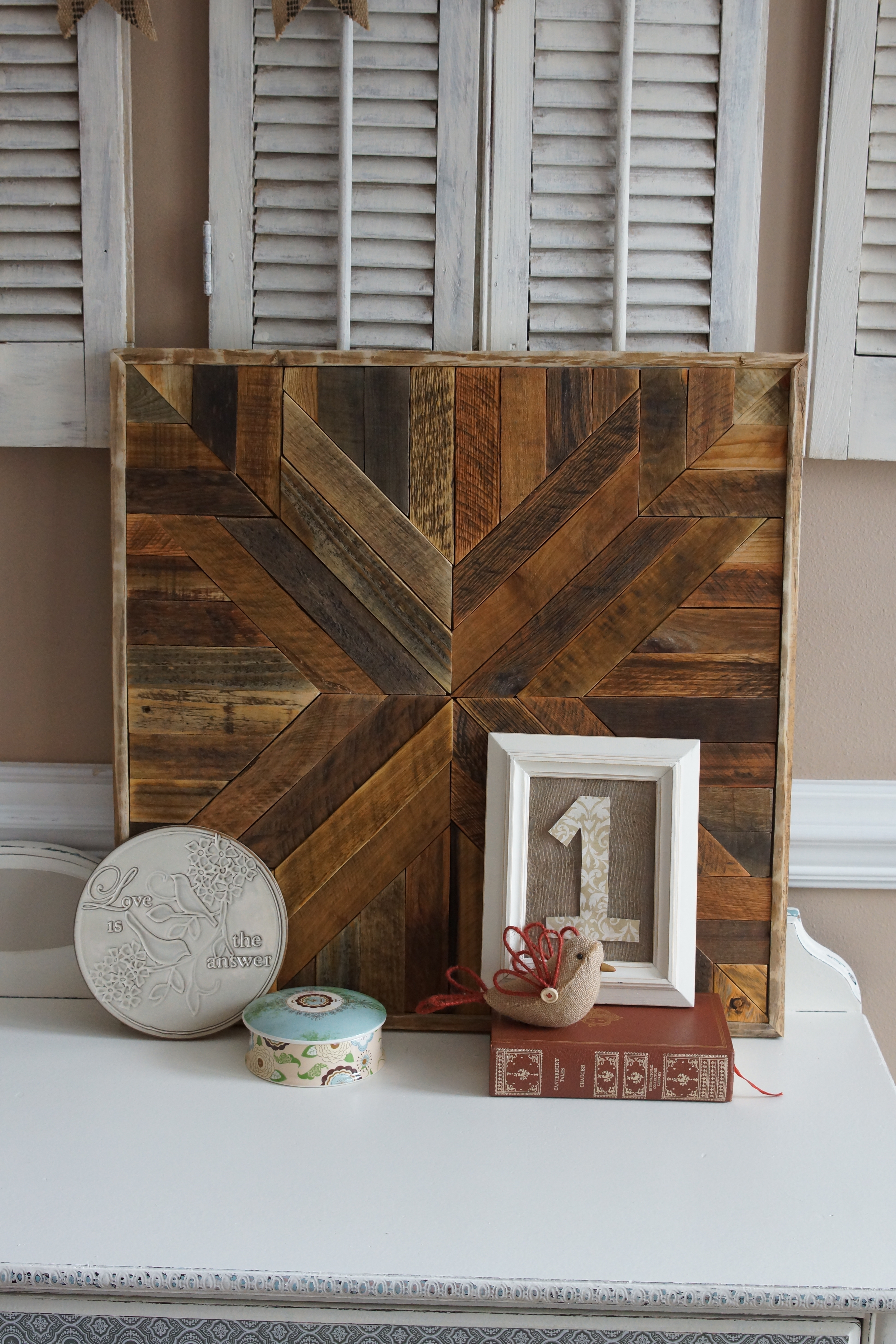 Pottery Barn Inspired – Reclaimed Wood Art | Wild Wood Chic throughout Pottery Barn Wall Art (Image 12 of 20)