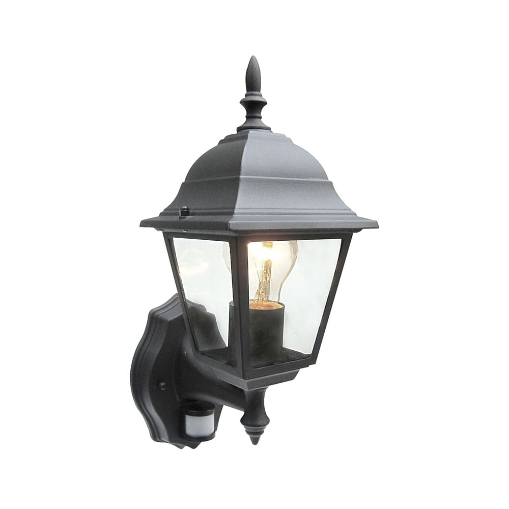 Power Master Black/white Outdoor Traditional Pir Sensor Wall Lantern within Outdoor Lanterns With Pir (Image 17 of 20)
