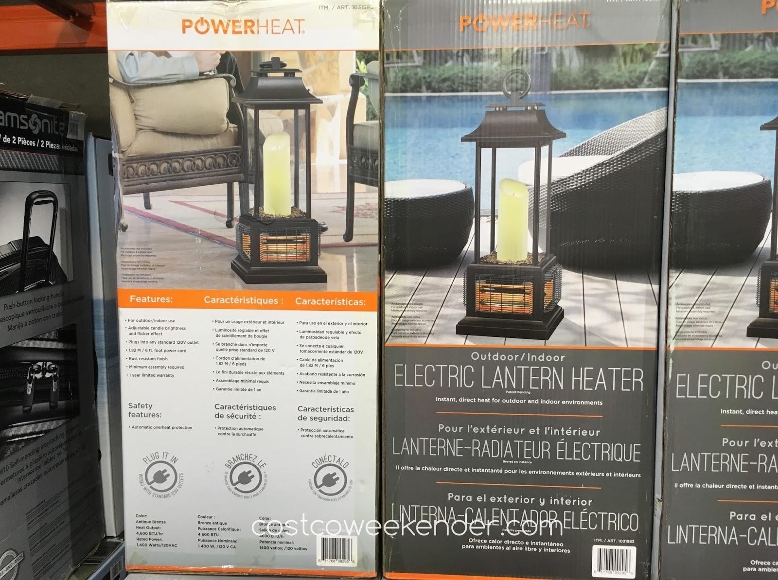 Powerheat Outdoor/indoor Electric Lantern Heater | Costco Weekender With Outdoor Patio Electric Lanterns (Photo 8 of 20)