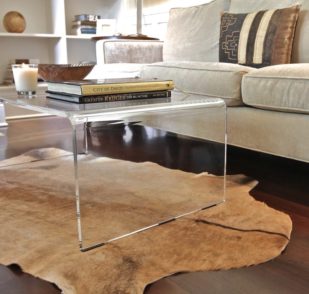 Preview Large: Amazing Of Acrylic Coffee Tables With Lucite Coffee In Modern Acrylic Coffee Tables (Photo 6 of 30)