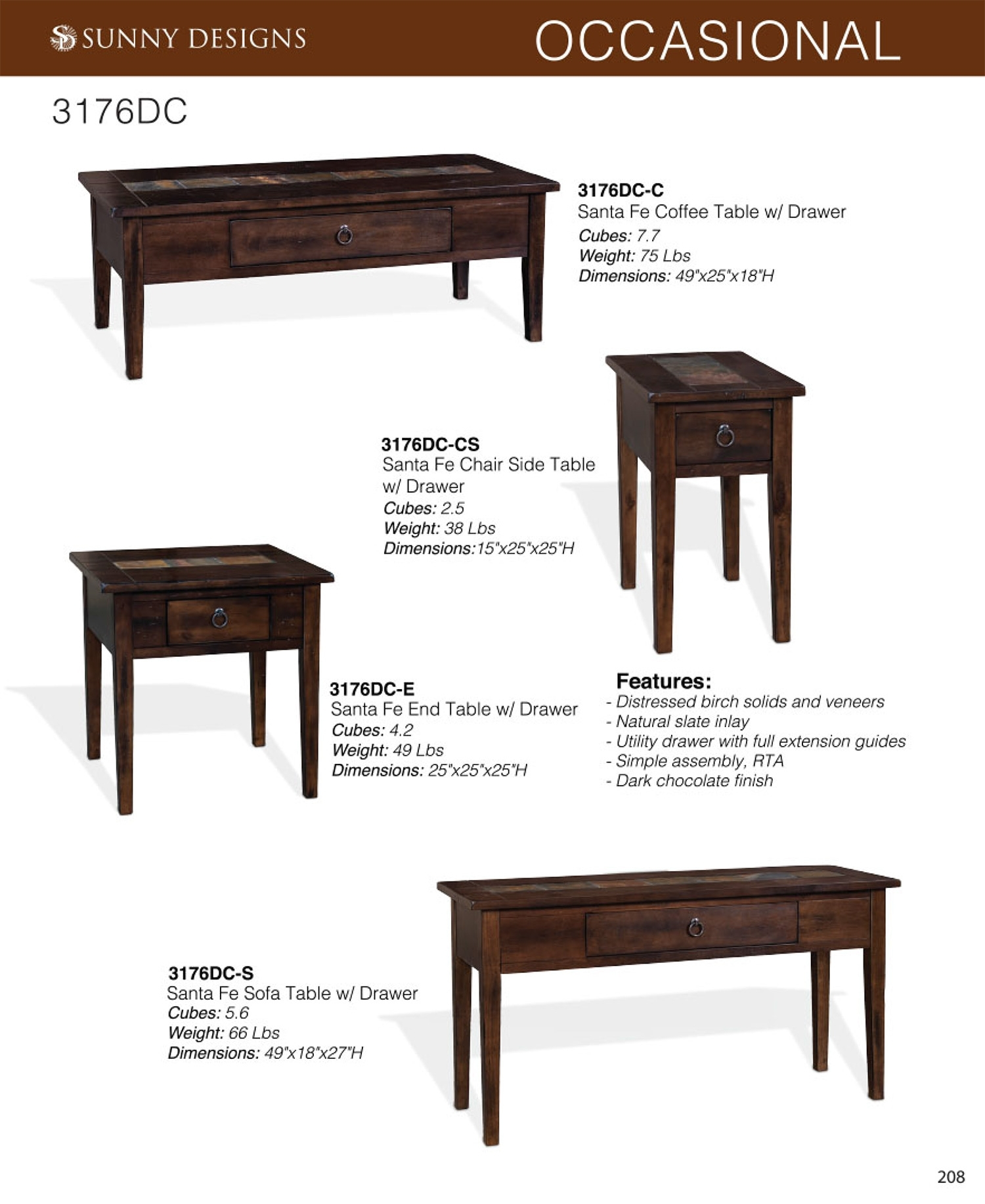 Prices • Sunny Designs Santa Fe Occasional Tables • Al's Woodcraft Throughout Santa Fe Coffee Tables (View 5 of 30)