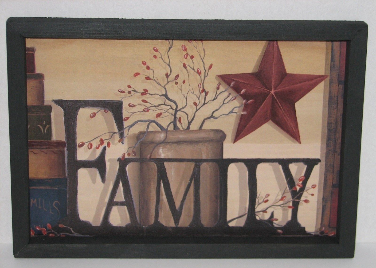 Primitive Country Family 9Quot; X 13Quot; Wall Decor Beautiful pertaining to Country Wall Art (Image 15 of 20)