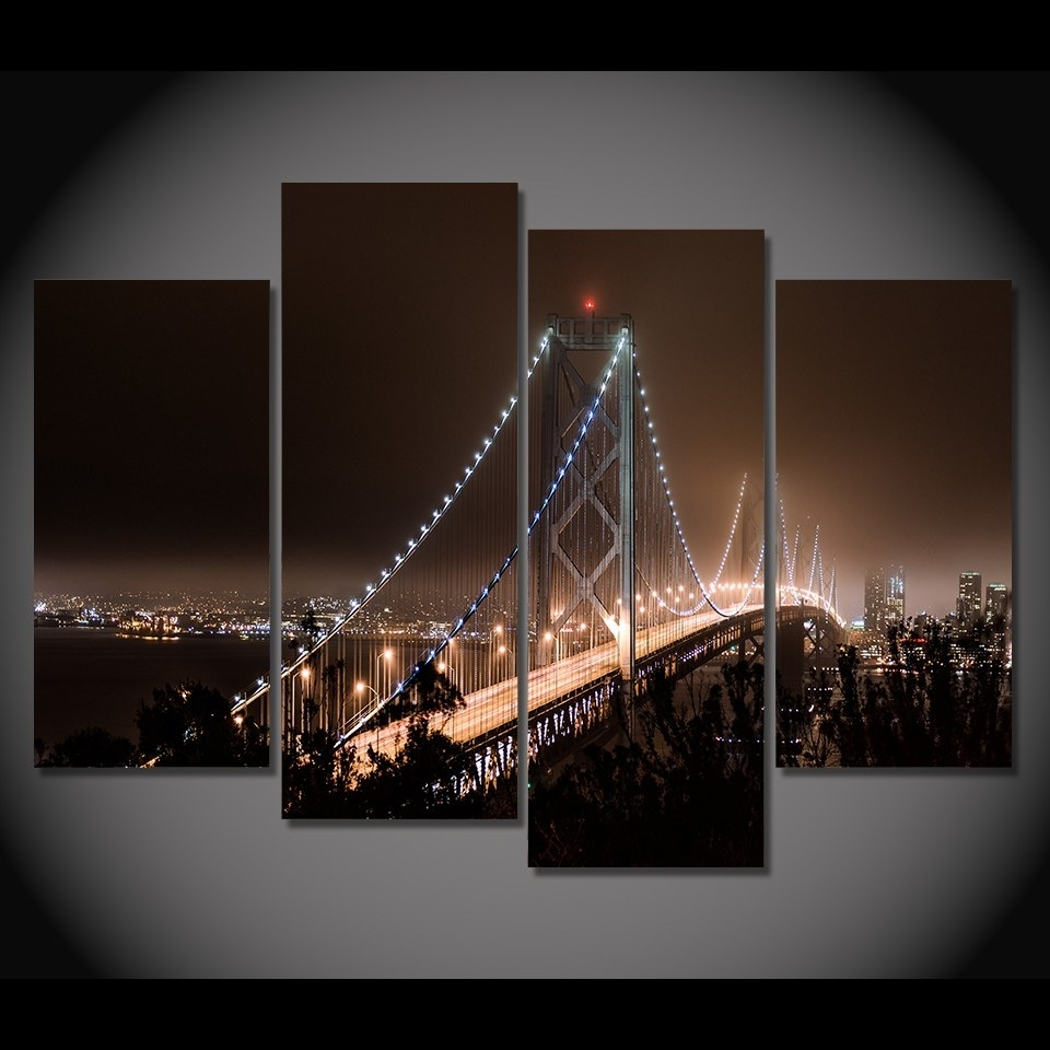 Print Canvas Painting San Francisco San Francisco Wall Art Picture with San Francisco Wall Art (Image 10 of 20)