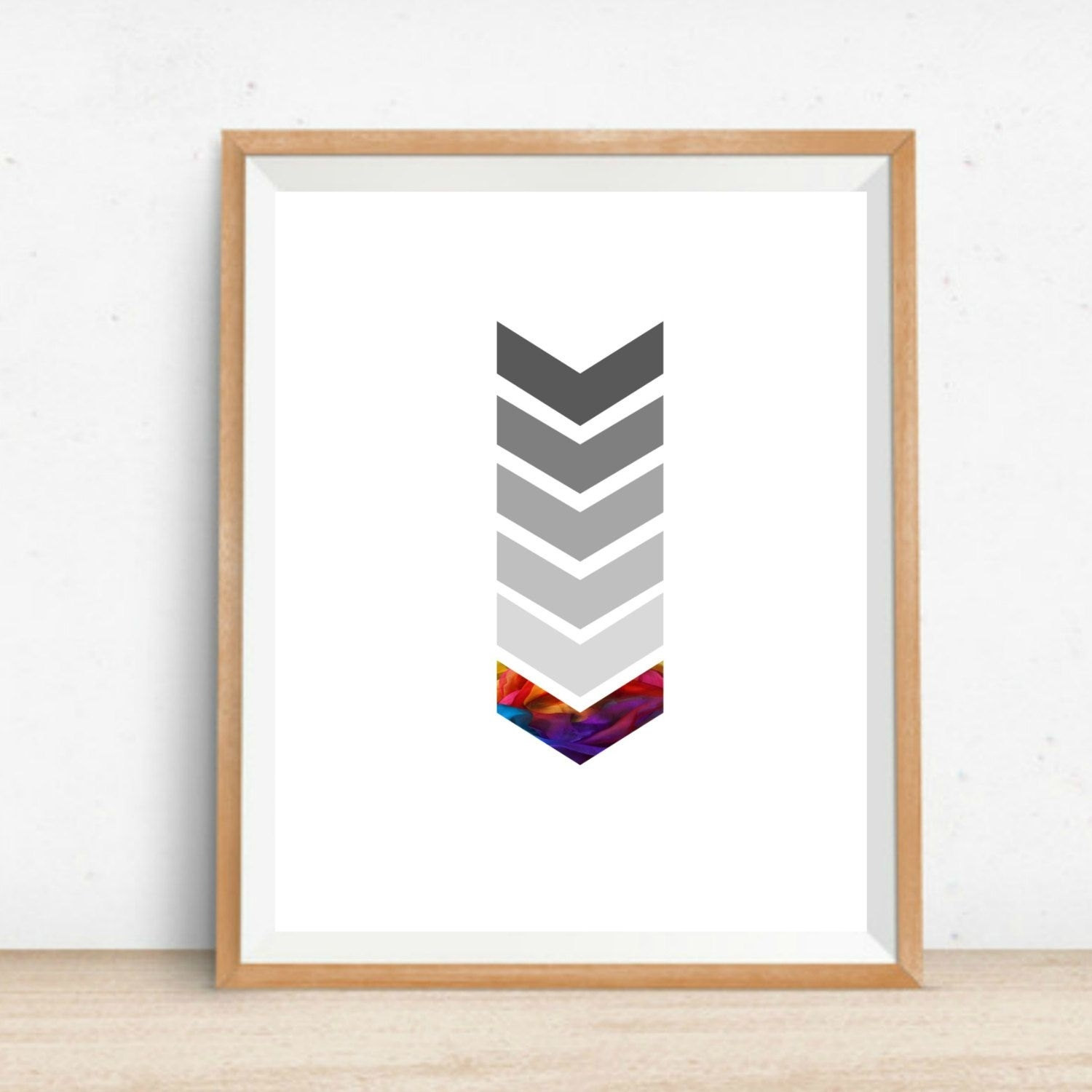 Printable Chevron Wall Art Home Decor Print Instant Download Digital in Chevron Wall Art (Image 19 of 20)