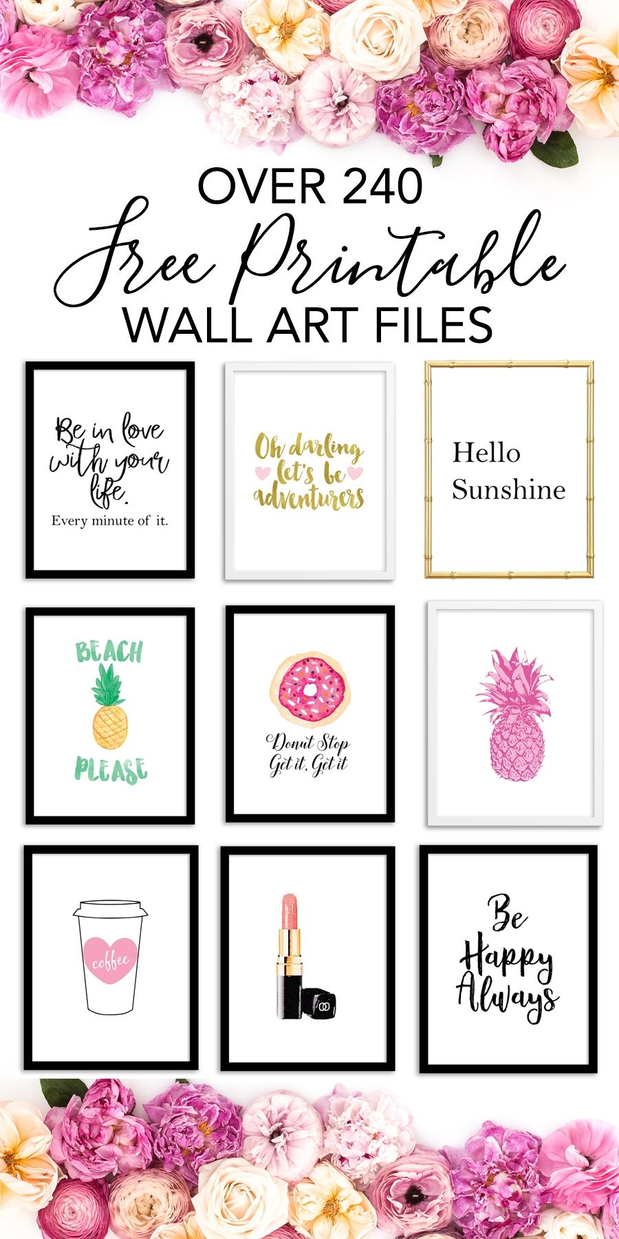 Printable Wall Art – Print Wall Decor And Poster Prints For Your Home Inside Free Printable Wall Art Decors (View 7 of 20)