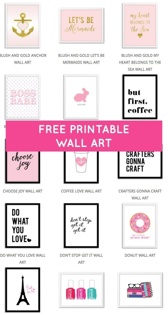 Printable Wall Art – Print Wall Decor And Poster Prints For Your With Regard To Free Printable Wall Art Decors (View 11 of 20)
