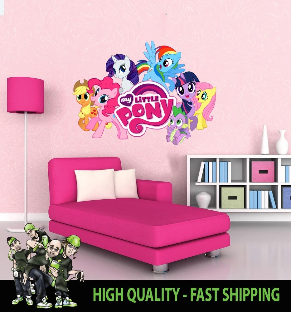 Printed Wall Art Wall My Little Pony Graphic Sticker Decal, My inside My Little Pony Wall Art (Image 18 of 20)