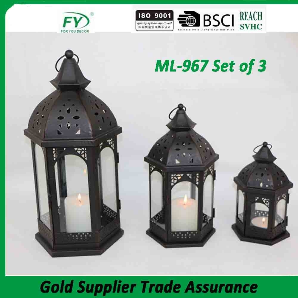 Product   Ml 967 Set Of 3 Outdoor Decorative Wholesale Moroccan Within Set Of 3 Outdoor Lanterns (Photo 19 of 20)