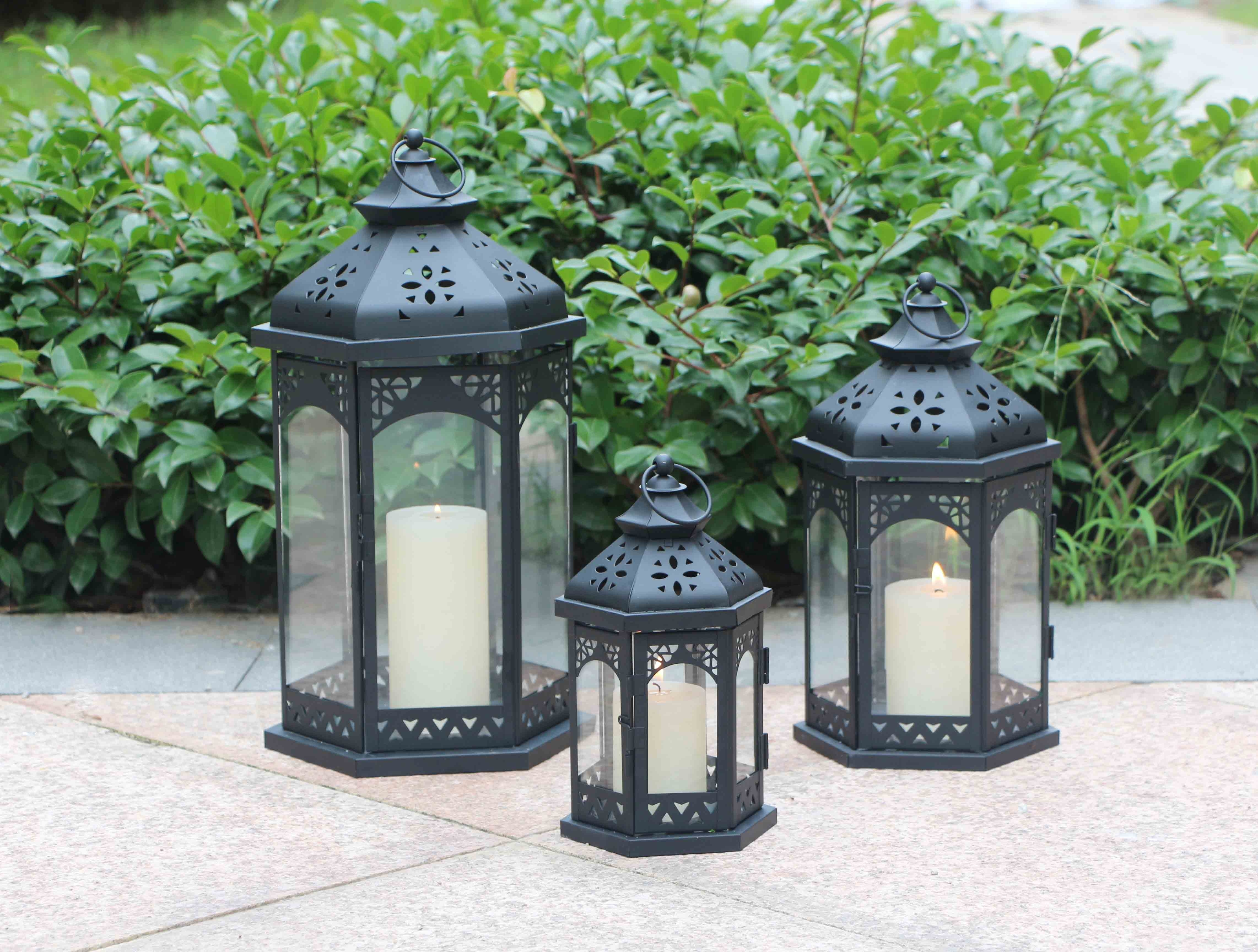 Product   Ml 967 Set Of 3 Outdoor Decorative Wholesale Moroccan Within Set Of 3 Outdoor Lanterns (Photo 9 of 20)