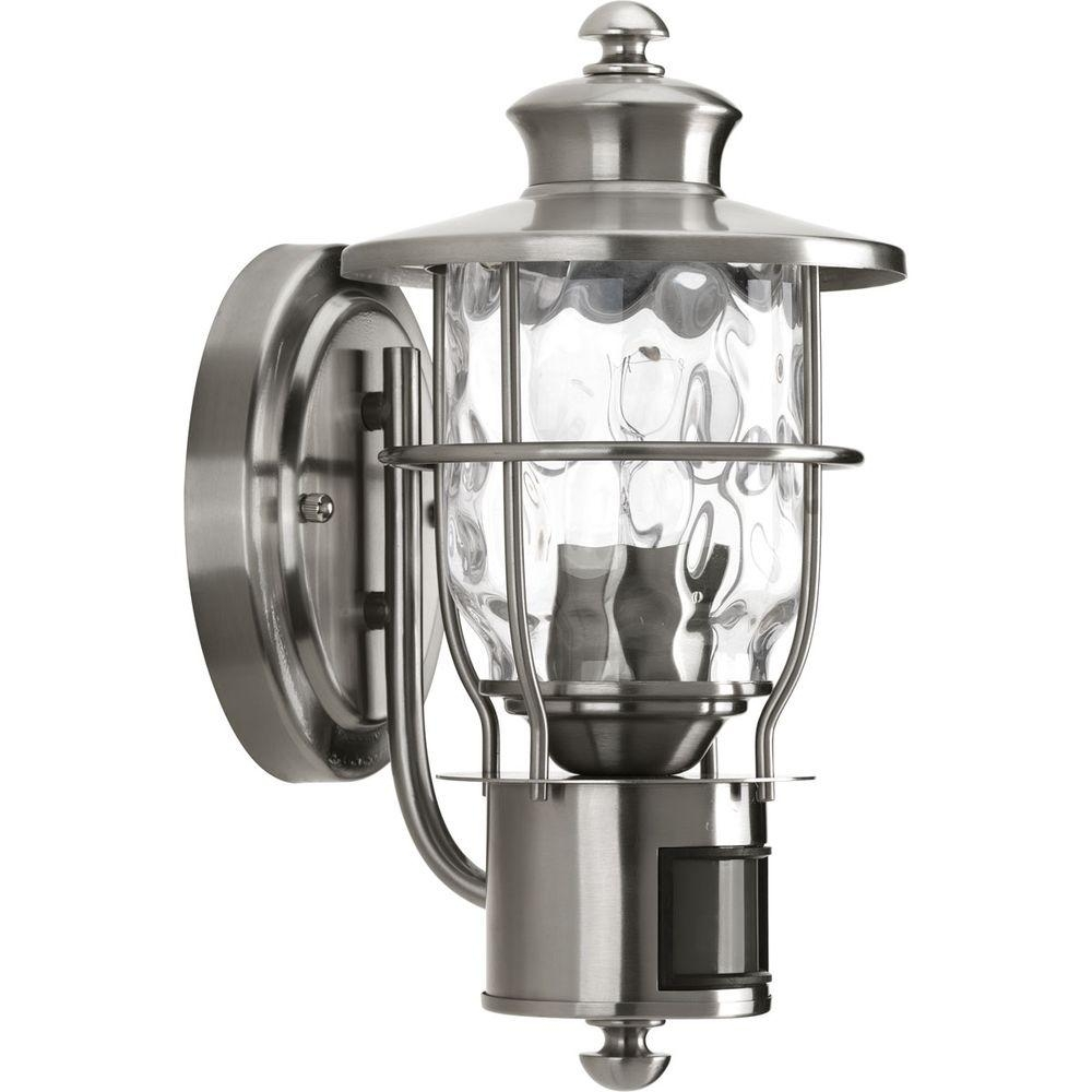Progress Lighting Beacon Collection 1 Light Stainless Steel Motion With Regard To Metal Outdoor Lanterns (Photo 19 of 20)