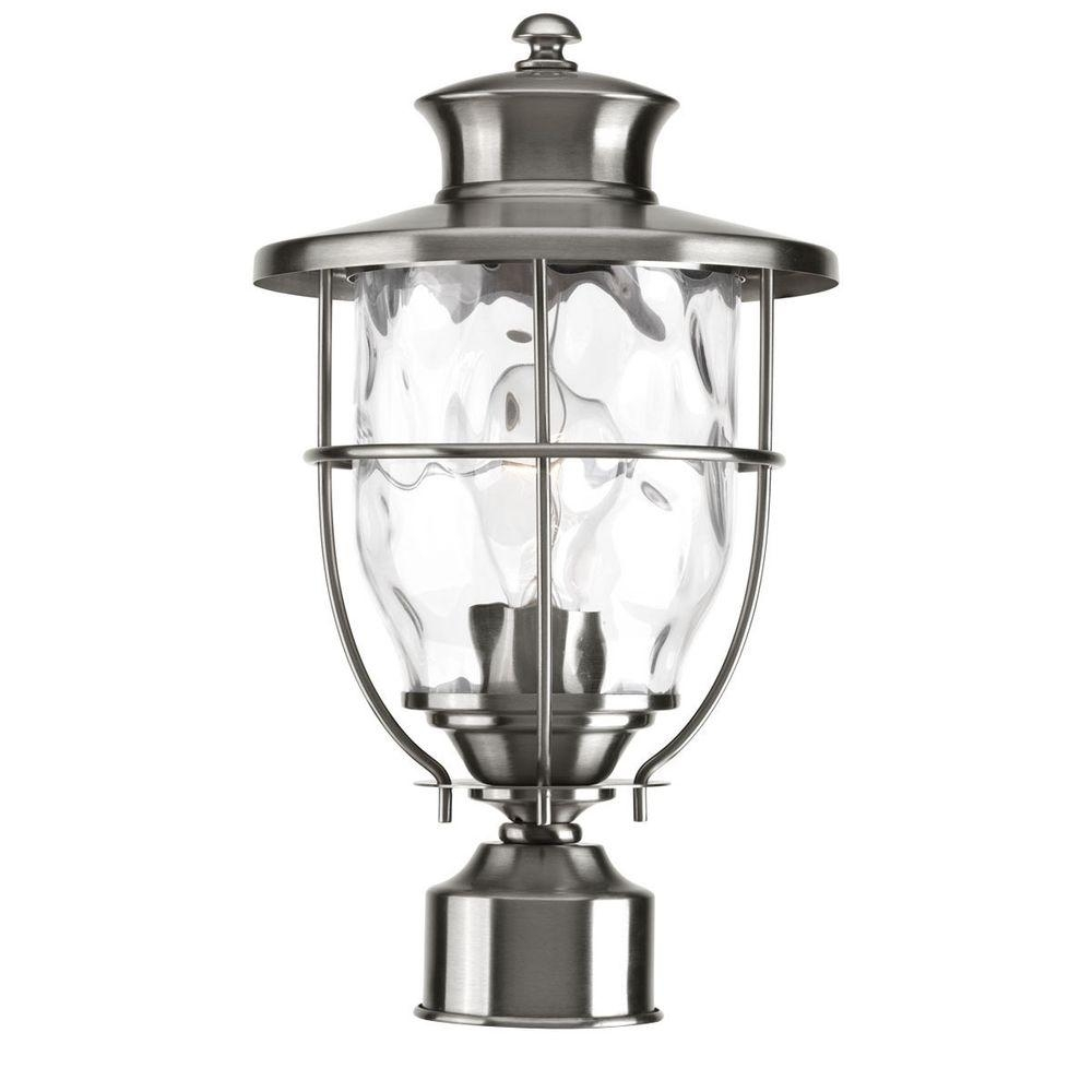 Progress Lighting Beacon Collection Outdoor Stainless Steel Post with Outdoor Lanterns For Posts (Image 12 of 20)