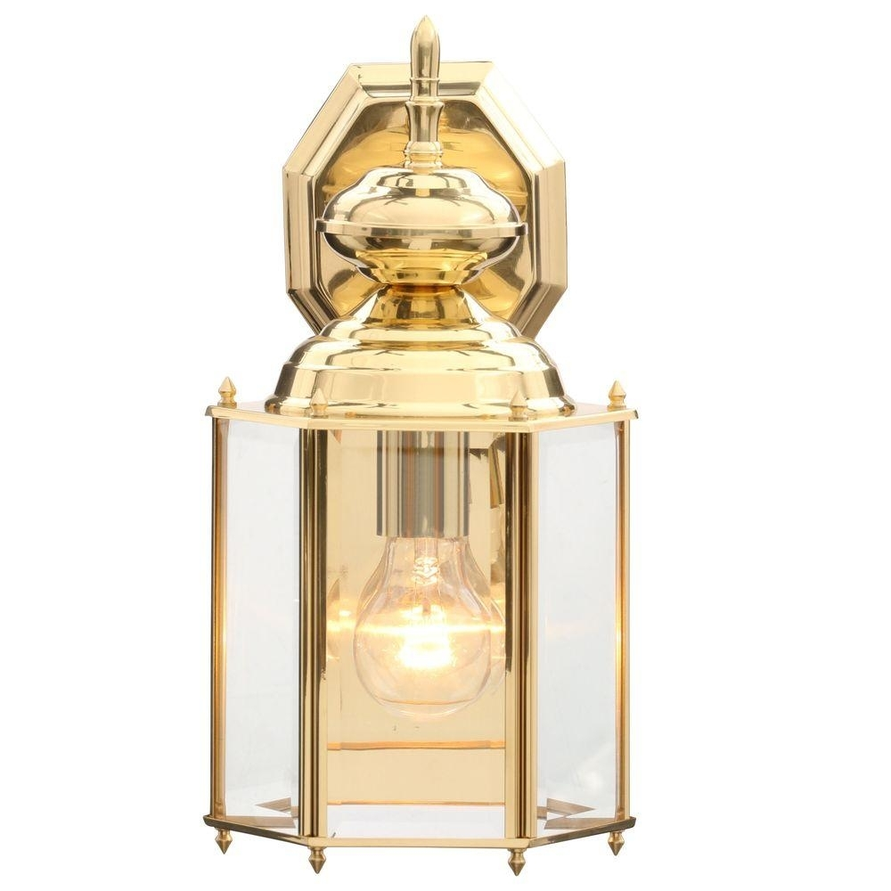 Progress Lighting Brass Guard Collection 7 Inch Polished Brass Intended For Brass Outdoor Lanterns (Photo 2 of 20)
