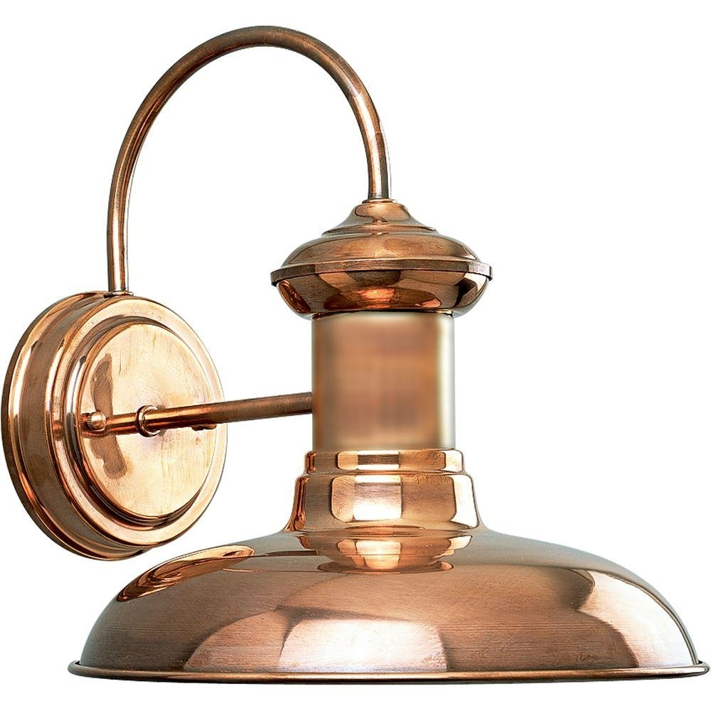Progress Lighting Brookside Collection 1 Light Copper Outdoor Wall Pertaining To Copper Outdoor Lanterns (View 16 of 20)