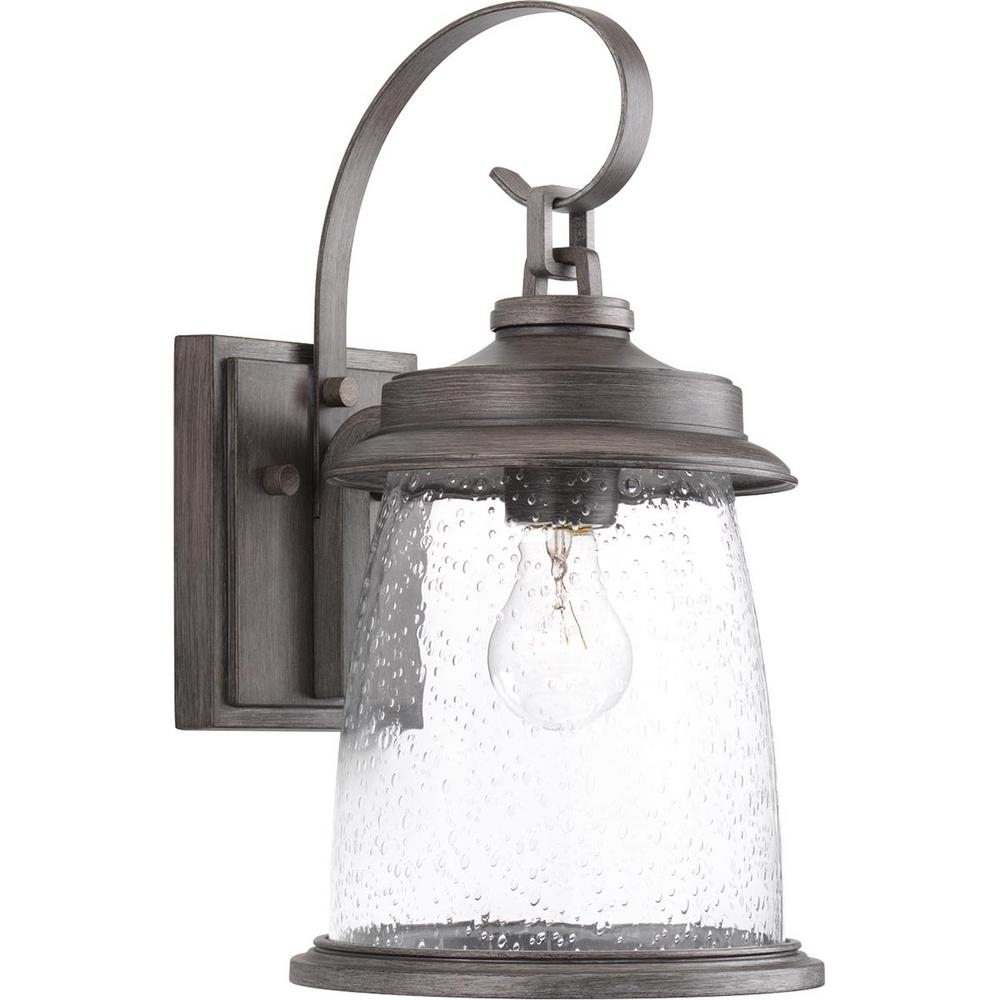 Progress Lighting Conover Collection 1-Light Antique Pewter Outdoor for Wall Mounted Outdoor Lanterns (Image 15 of 20)