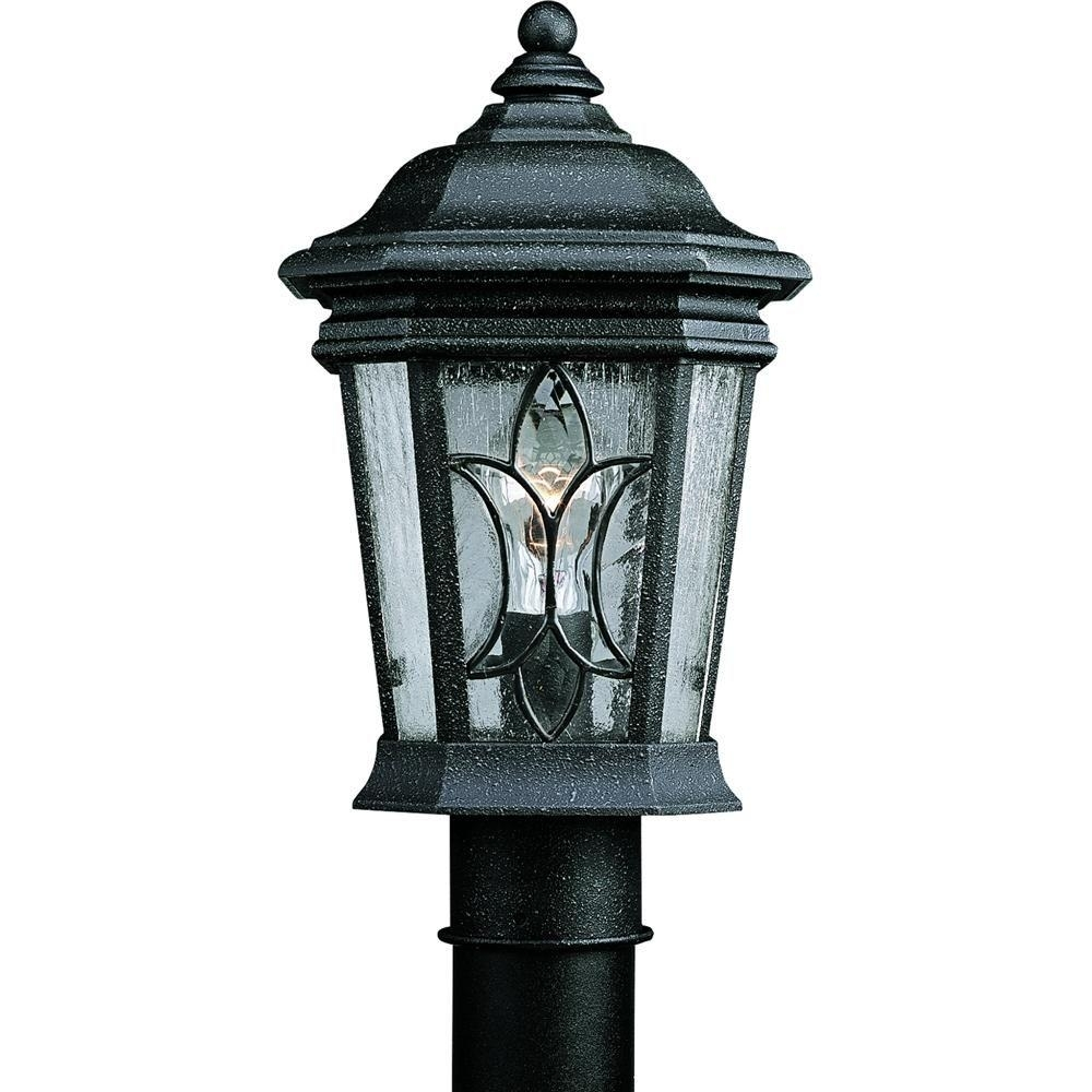 Progress Lighting Cranbrook Collection 1-Light Outdoor Gilded Iron throughout Outdoor Post Lanterns (Image 16 of 20)