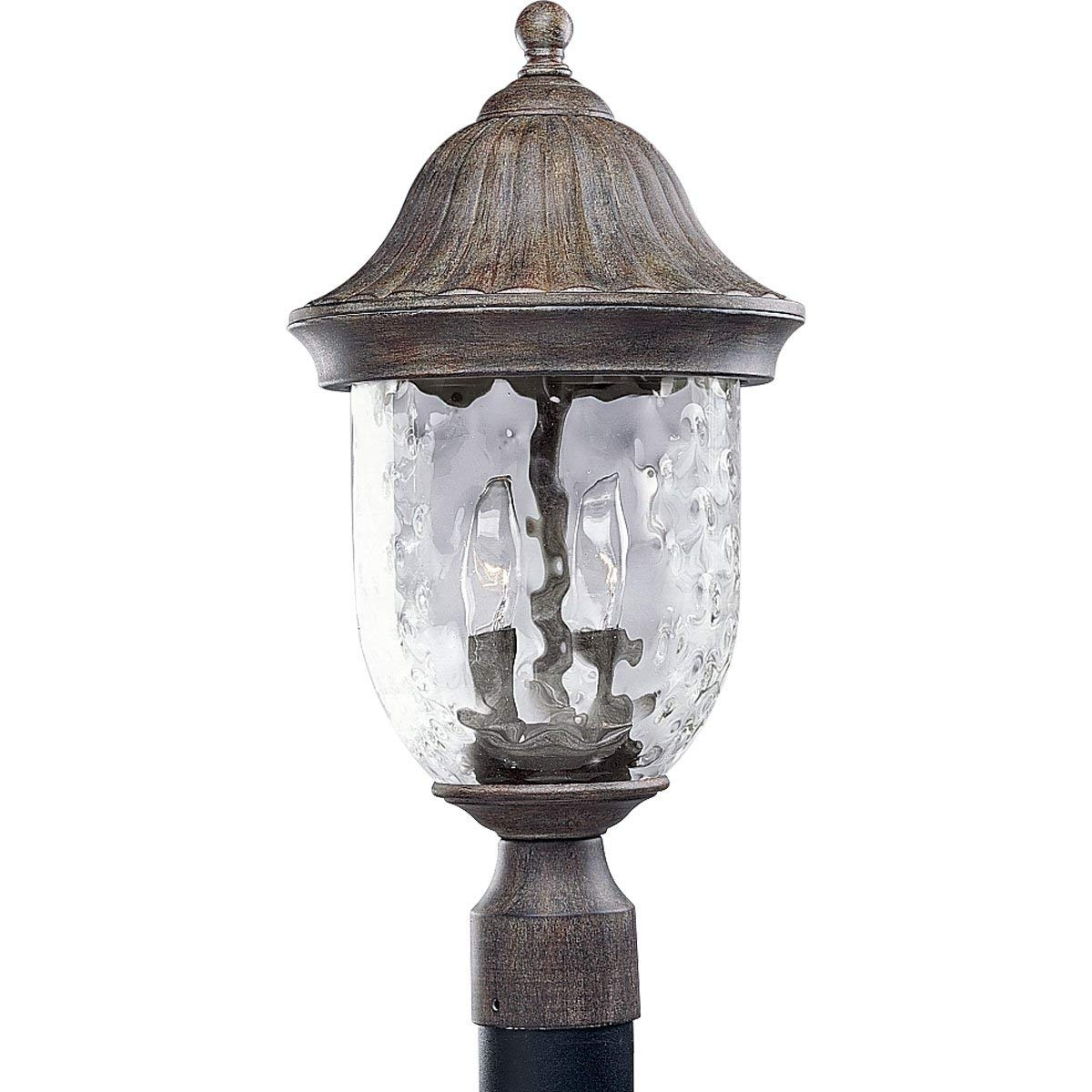Progress Lighting P5429-31 2-Light Post Lantern With Optic Hammered with regard to Outdoor Lanterns On Post (Image 18 of 20)