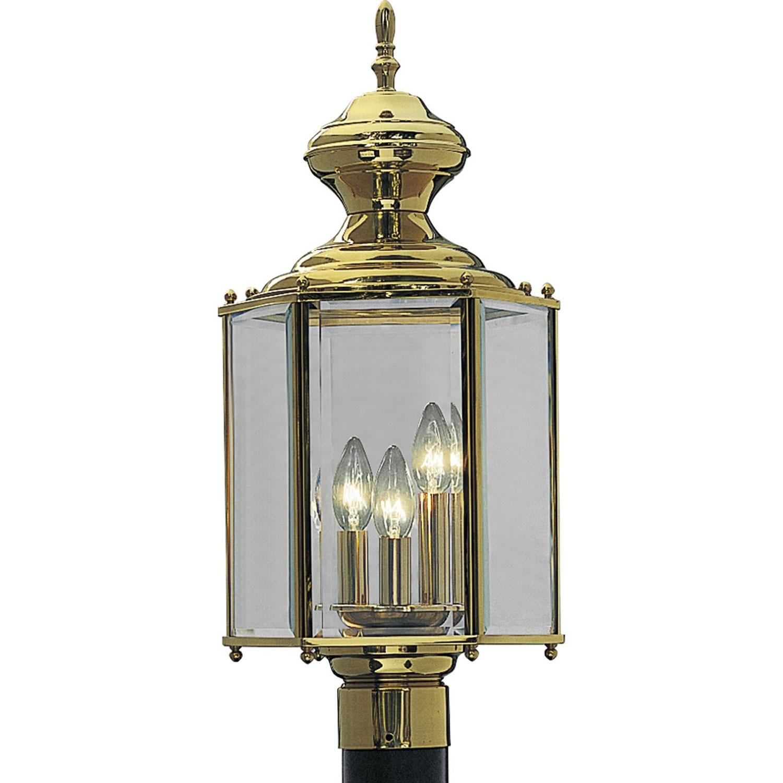 Progress Lighting P5432 10: Brassguard Lanterns Polished Brass Three Throughout Brass Outdoor Lanterns (Photo 15 of 20)